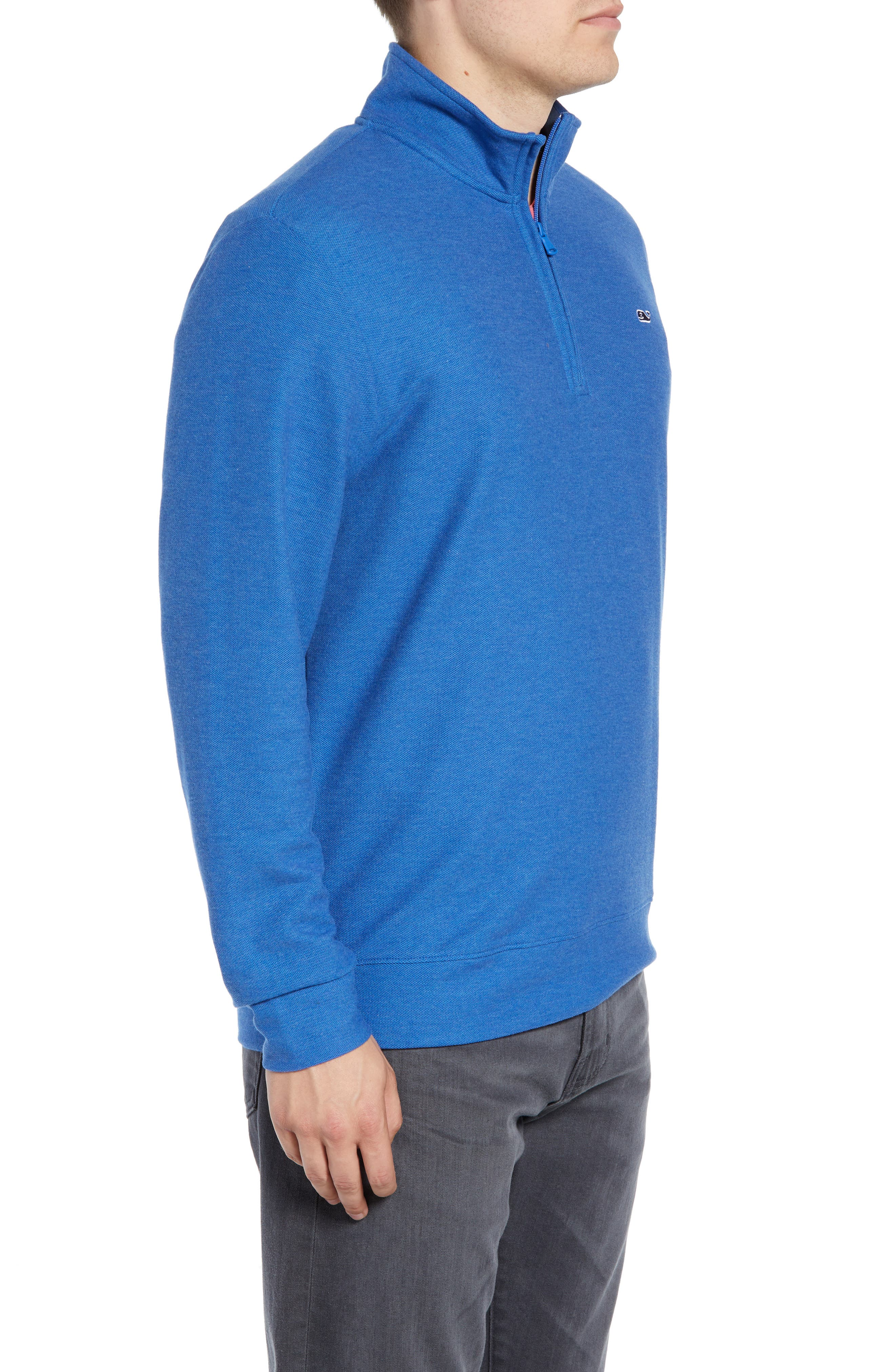 Breaker Saltwater Quarter Zip Pullover,                             Alternate thumbnail 3, color,                             HULL BLUE