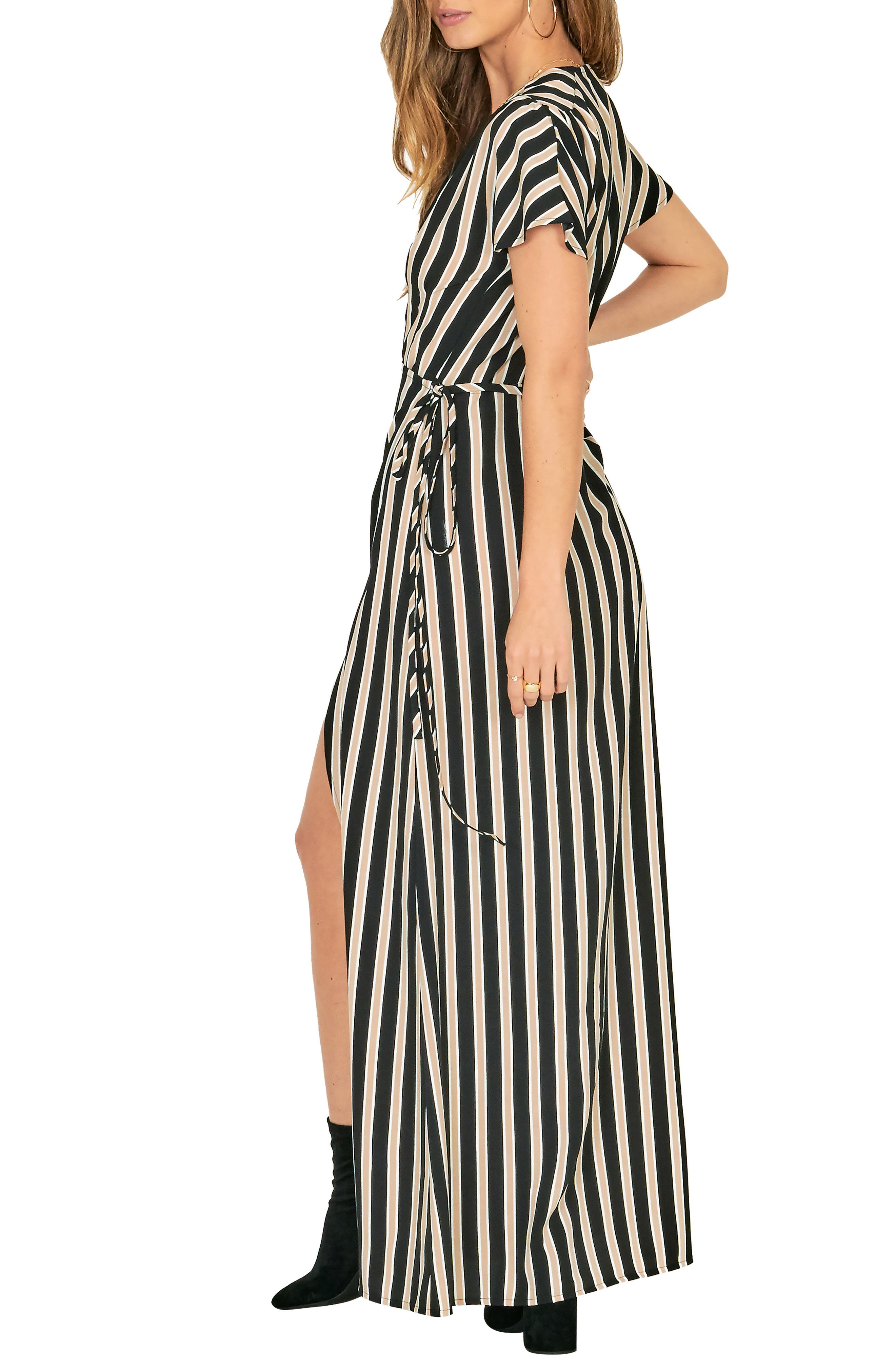 Fit to Be Tied Maxi Dress,                             Alternate thumbnail 3, color,                             001