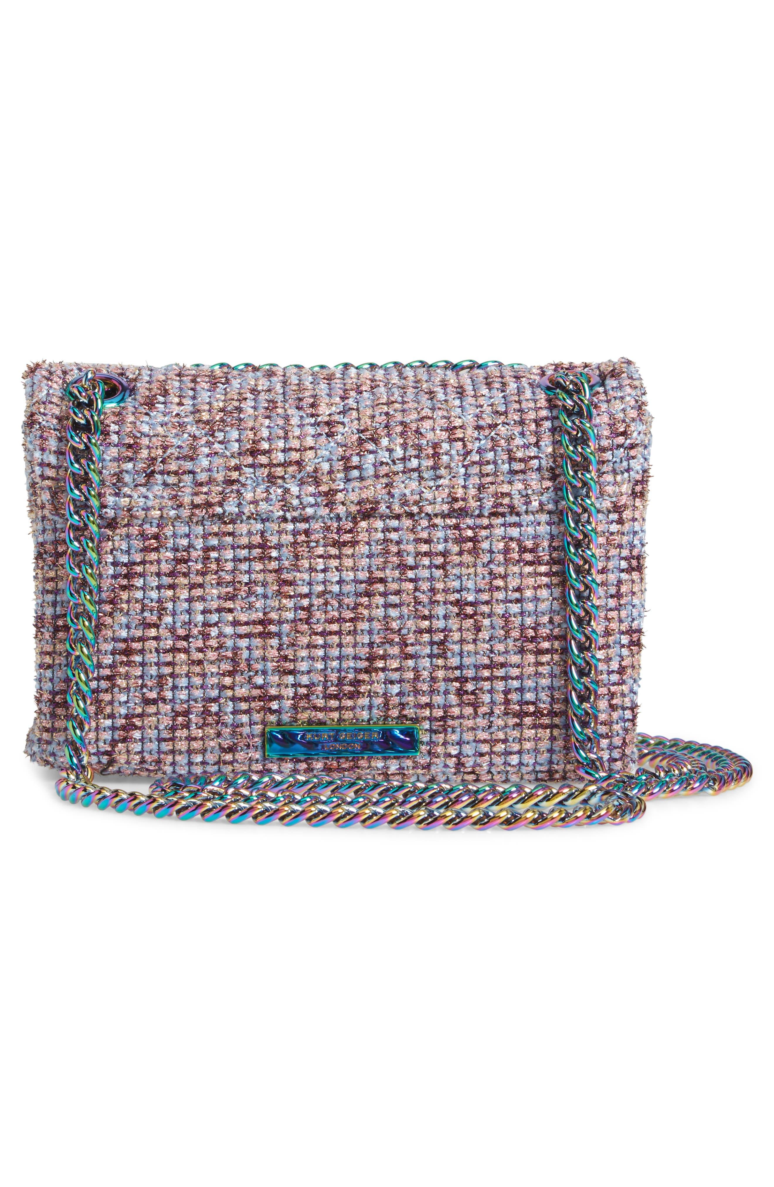 Mini Kensington Tweed Crossbody Bag,                             Alternate thumbnail 3, color,                             PINK