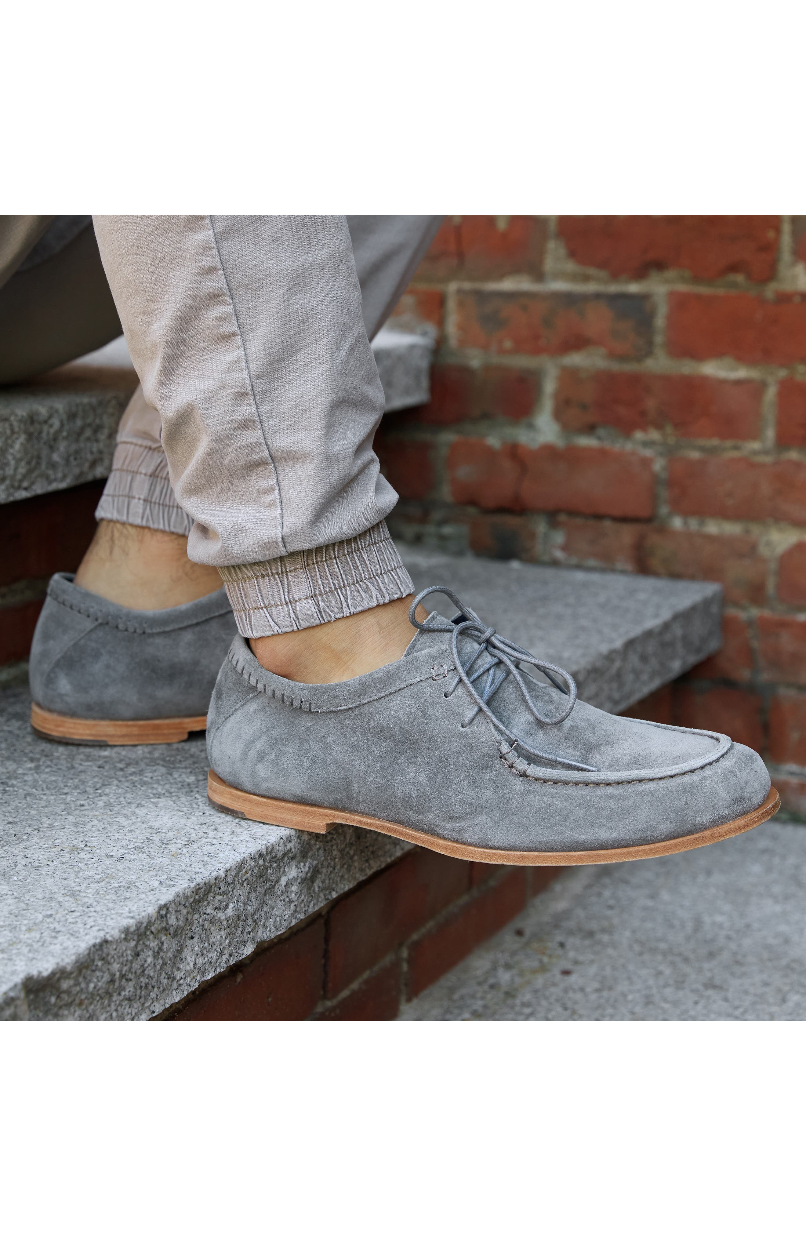 Tauk Point Moc Toe Derby,                             Alternate thumbnail 6, color,                             GREY SUEDE