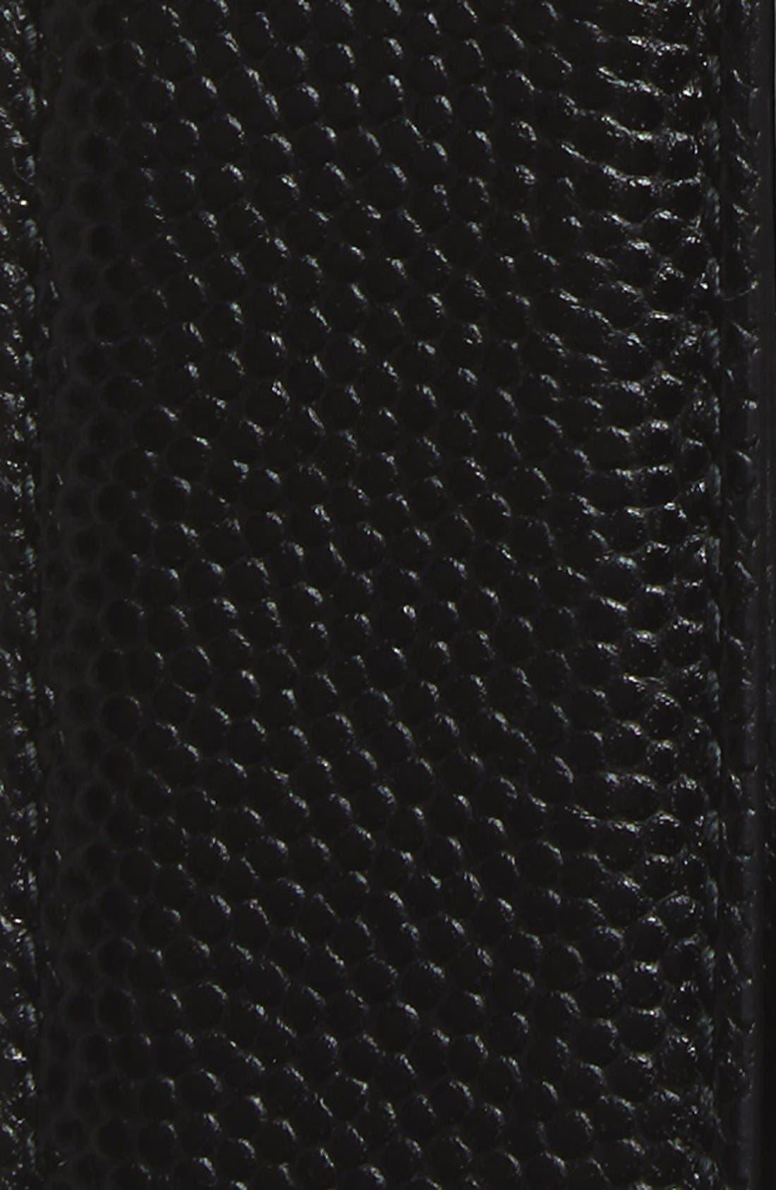 Reversible Calfskin Leather Belt,                             Alternate thumbnail 6, color,                             001