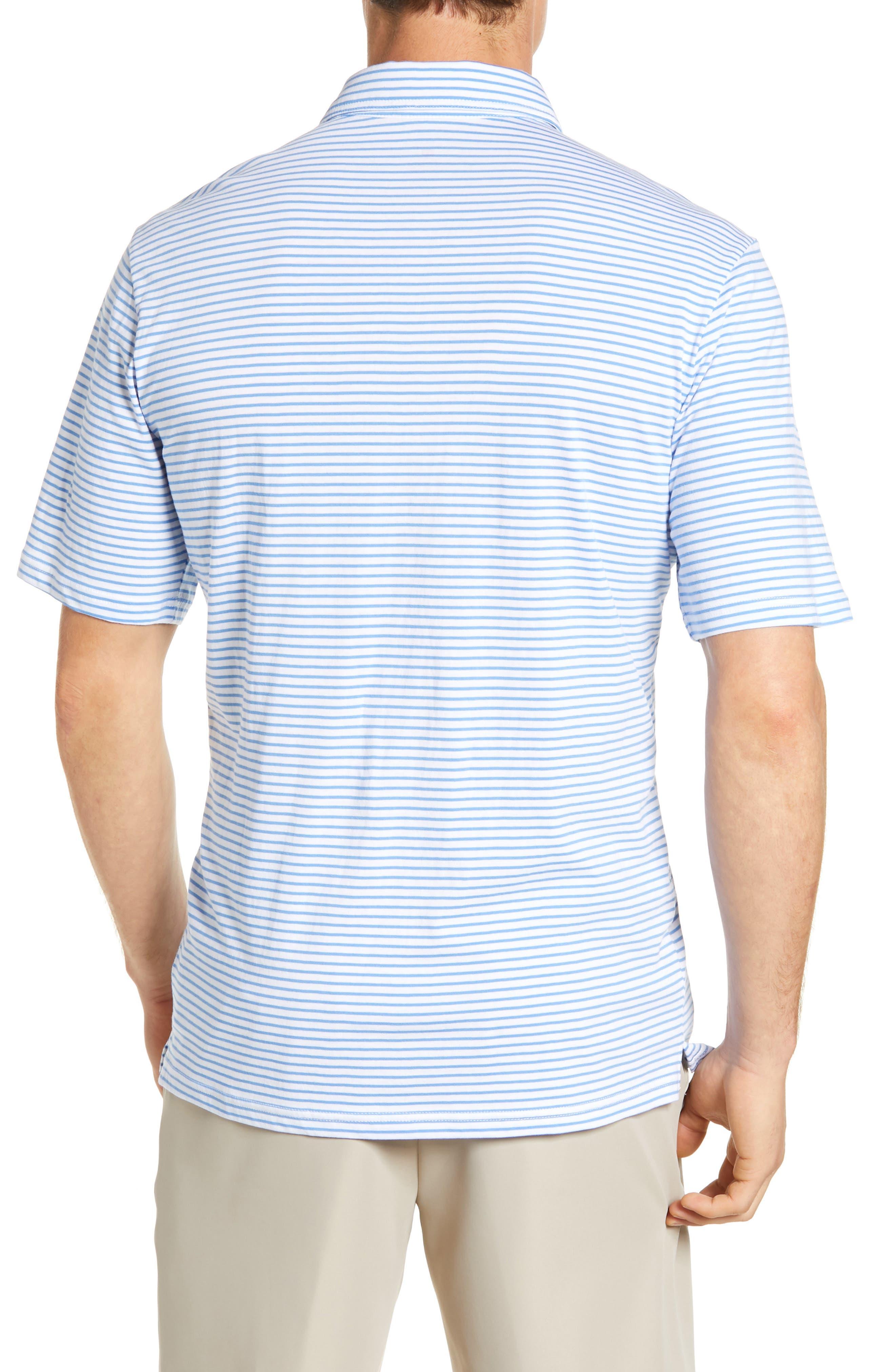 Macon Regular Fit Stripe Polo,                             Alternate thumbnail 2, color,                             WHITE