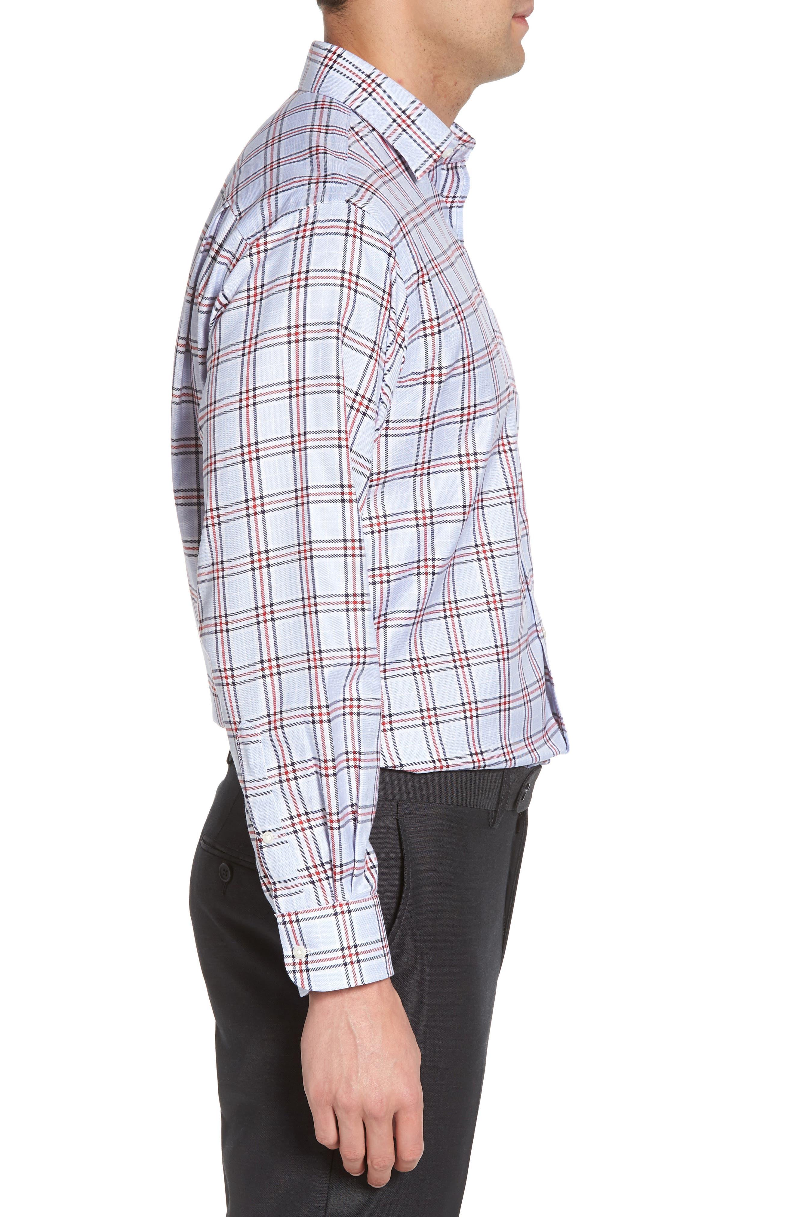 Smartcare<sup>™</sup> Classic Fit Plaid Dress Shirt,                             Alternate thumbnail 4, color,                             601