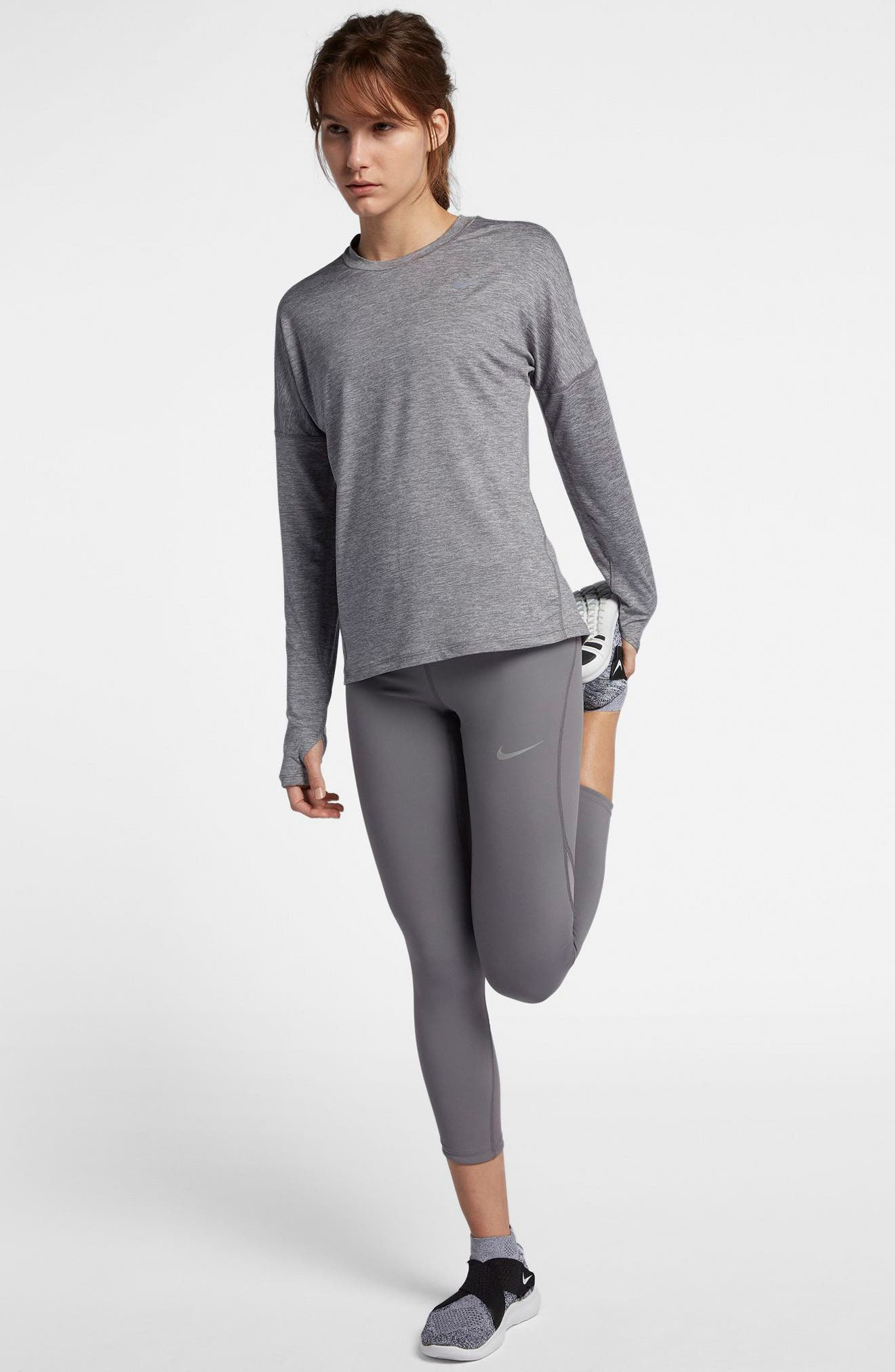 NIKE,                             Dry Element Long Sleeve Top,                             Alternate thumbnail 10, color,                             036