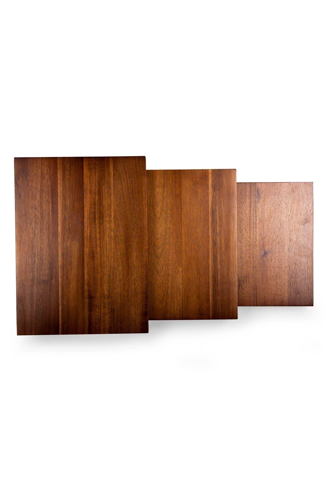 'Etage' Wood Serving Pedestals,                             Alternate thumbnail 6, color,                             BROWN