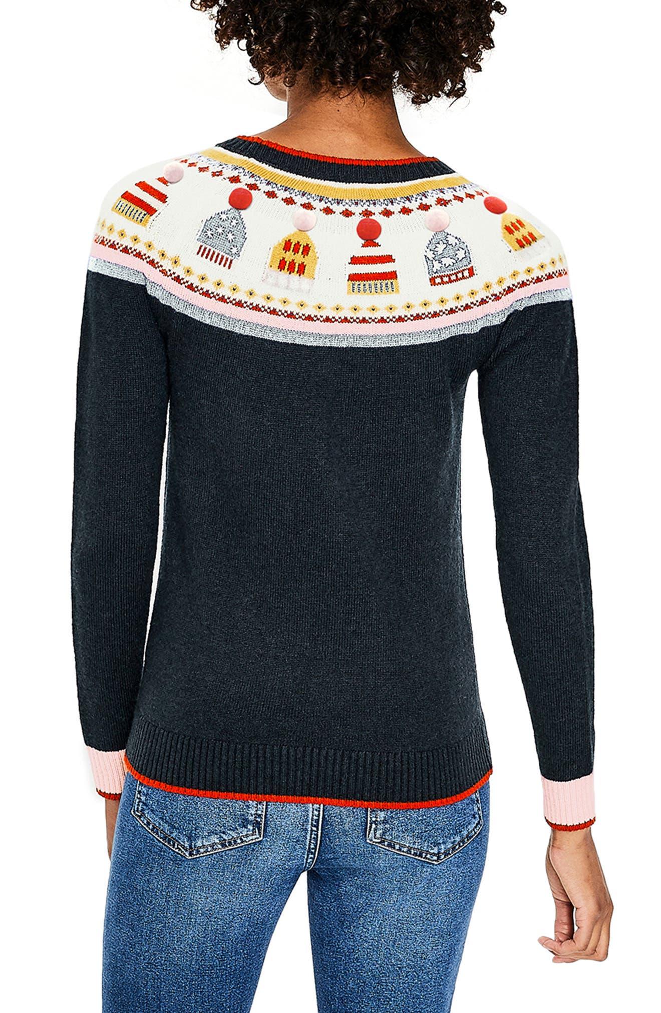 Holiday Fair Isle Sweater,                             Alternate thumbnail 2, color,                             404