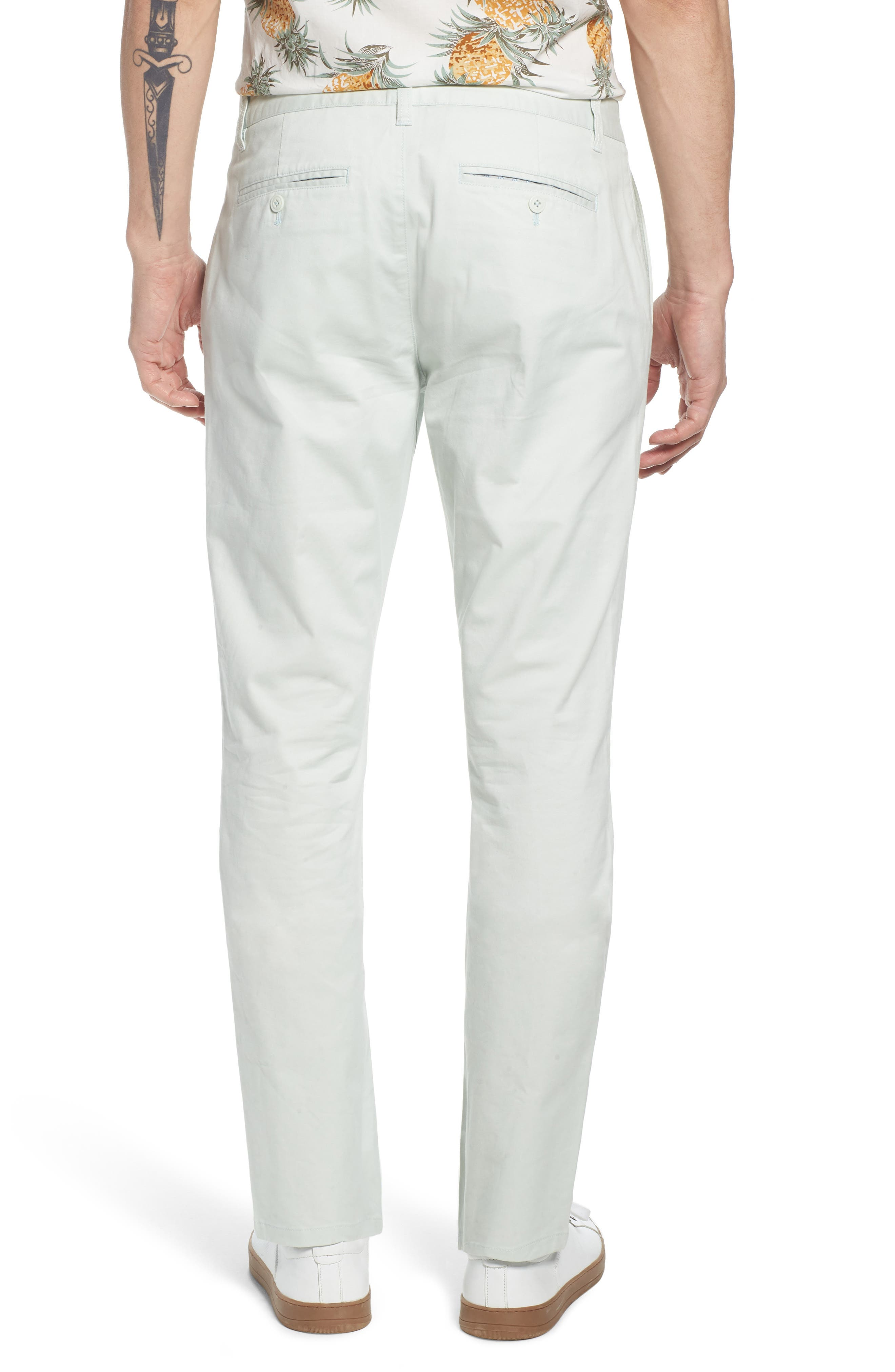 Tailored Fit Washed Stretch Cotton Chinos,                             Alternate thumbnail 56, color,