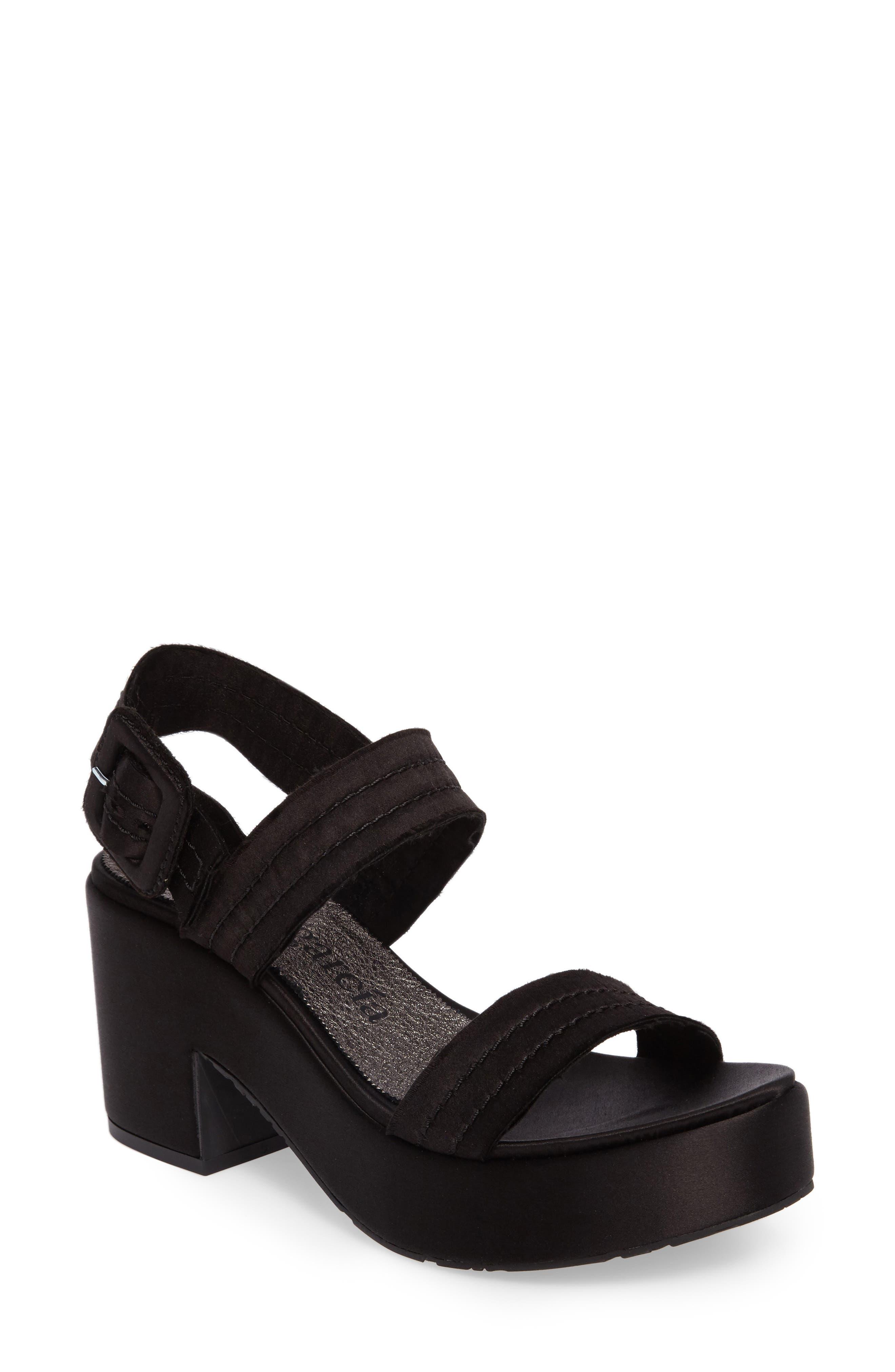 Decima Platform Sandal,                             Main thumbnail 1, color,                             001
