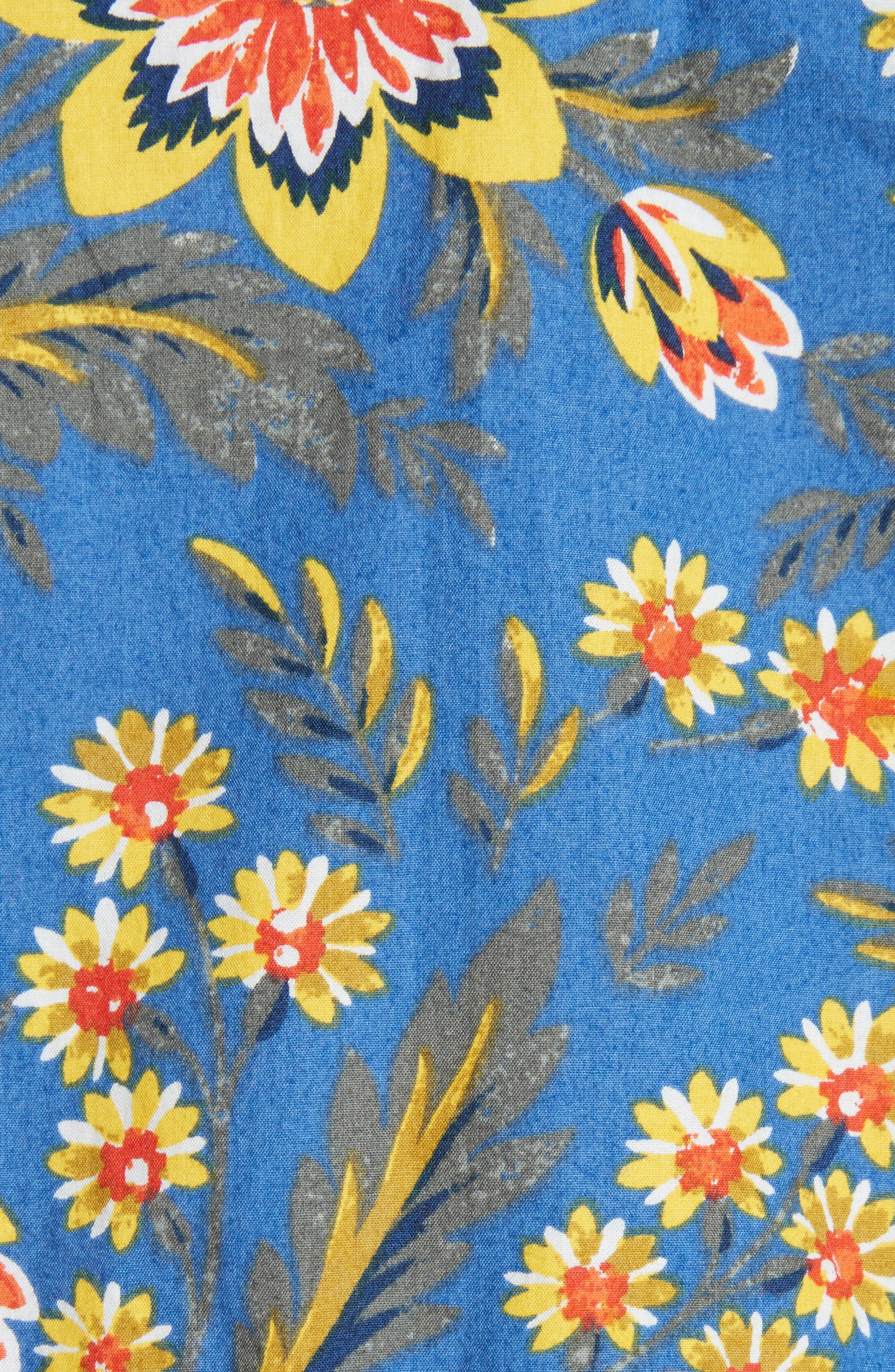 Chinaru Floral Peplum Cotton Top,                             Alternate thumbnail 5, color,                             420