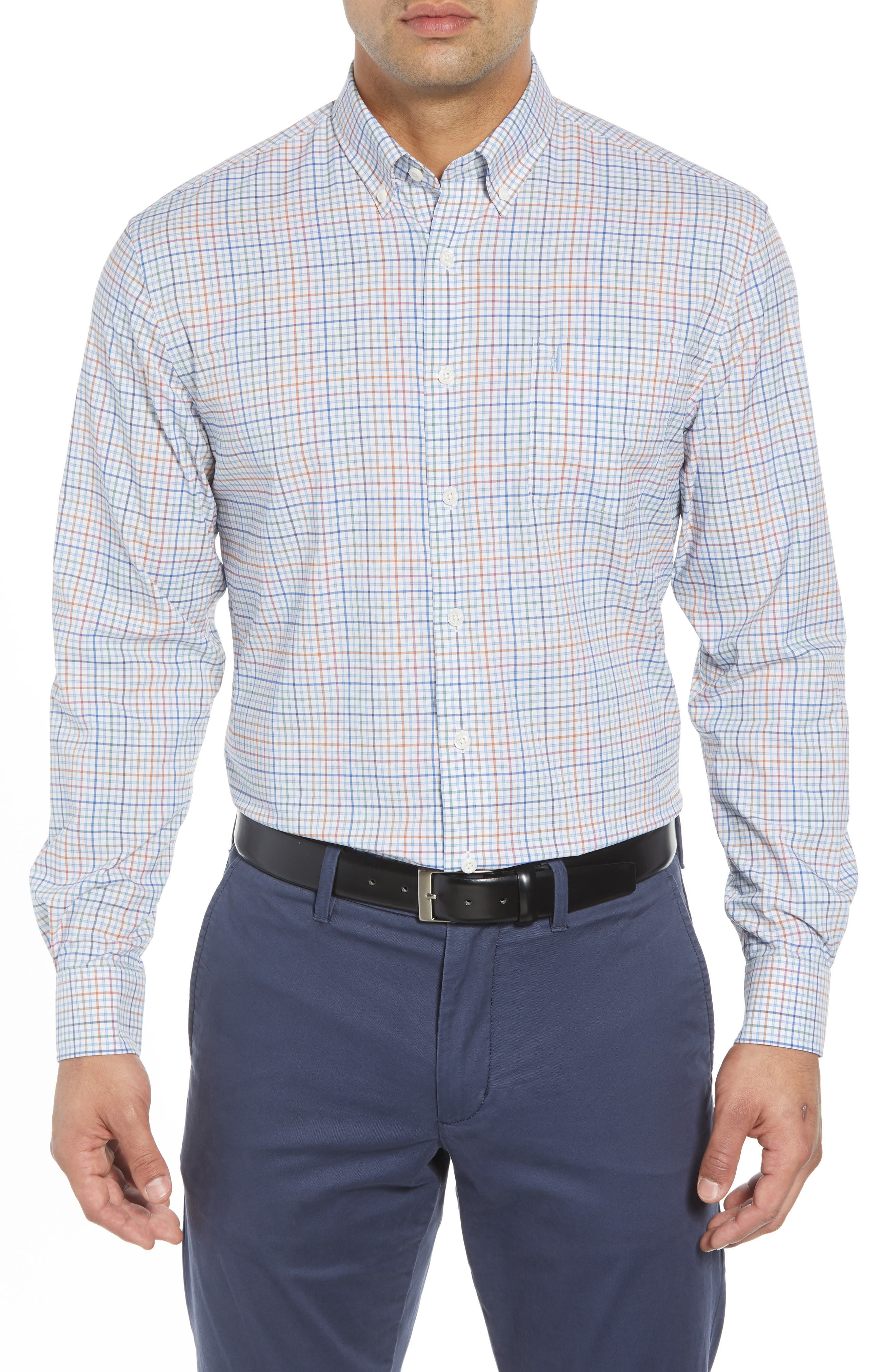 Chester Classic Fit Sport Shirt,                         Main,                         color, GULF BLUE