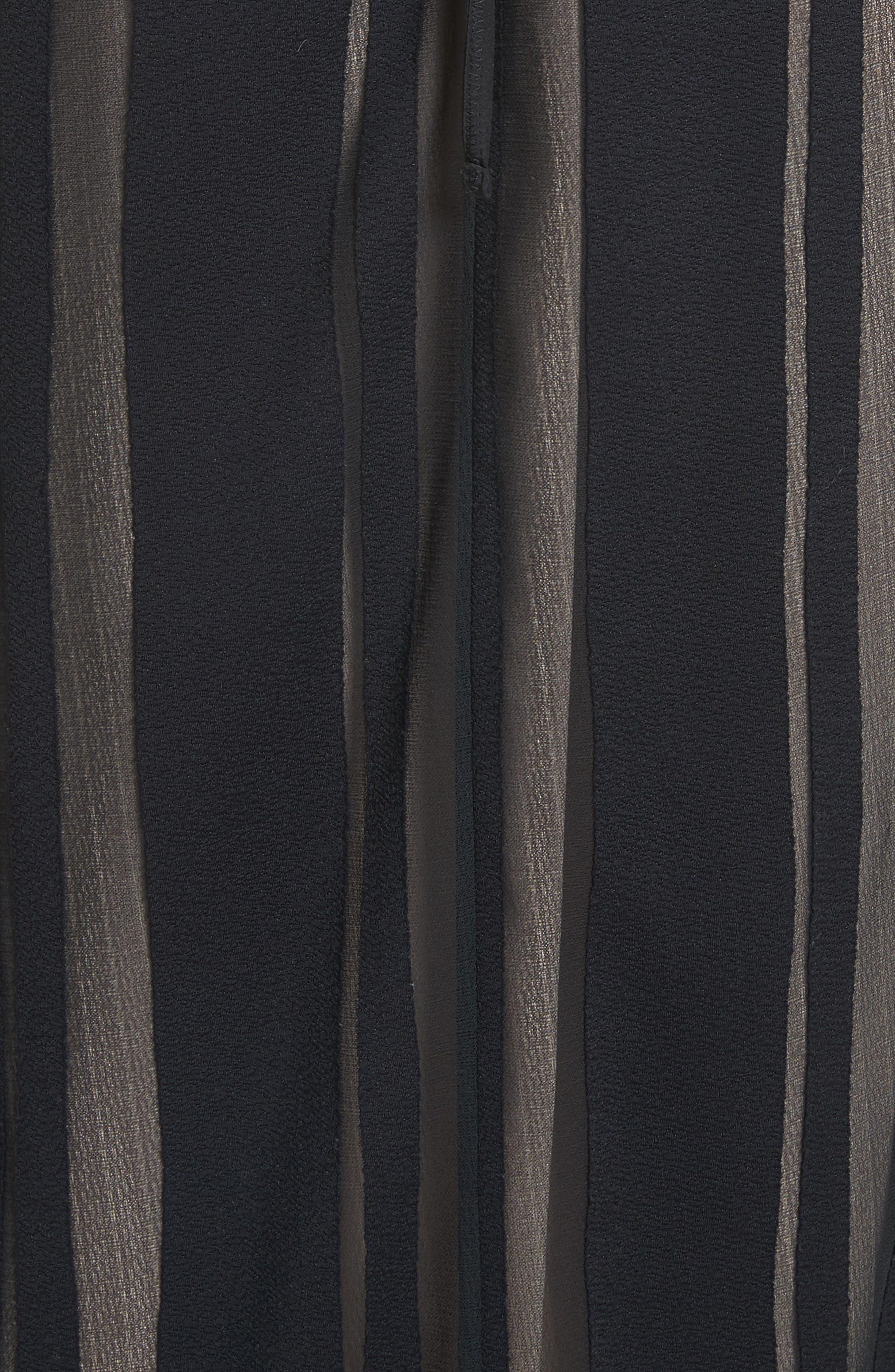 Talla Sheer Stripe Midi Dress,                             Alternate thumbnail 5, color,                             009