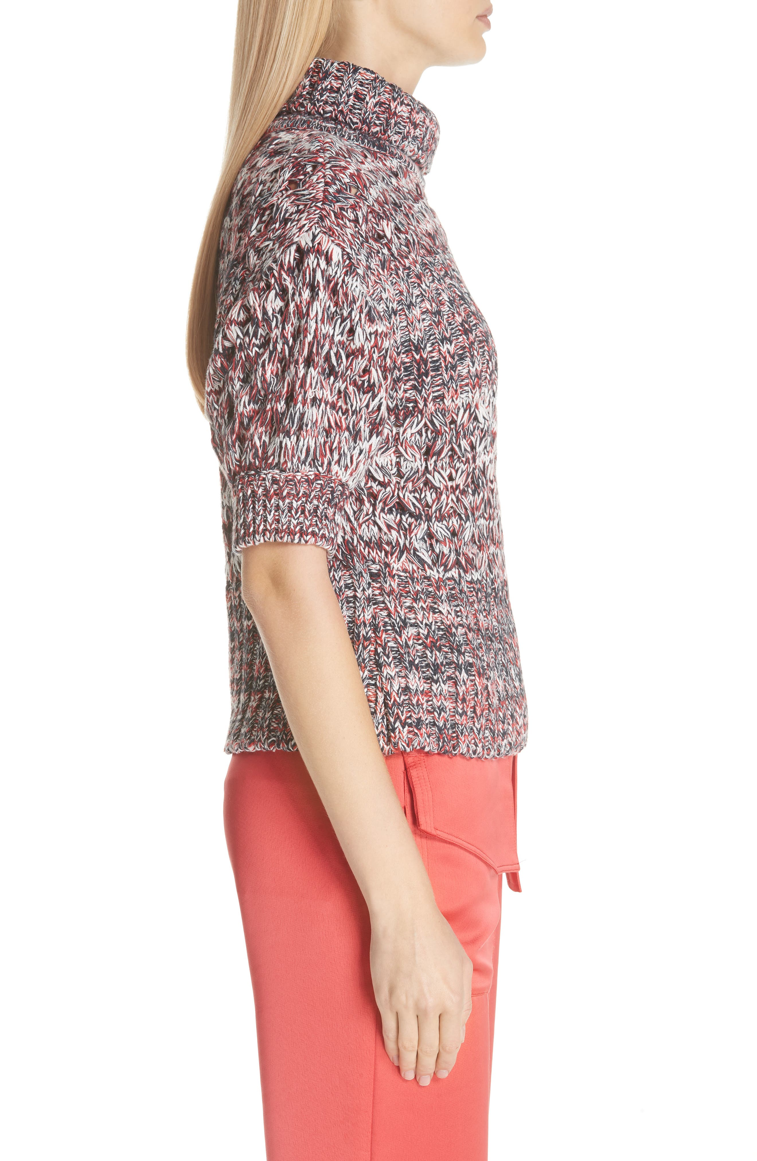 Mélange Cotton & Wool Sweater,                             Alternate thumbnail 3, color,                             600