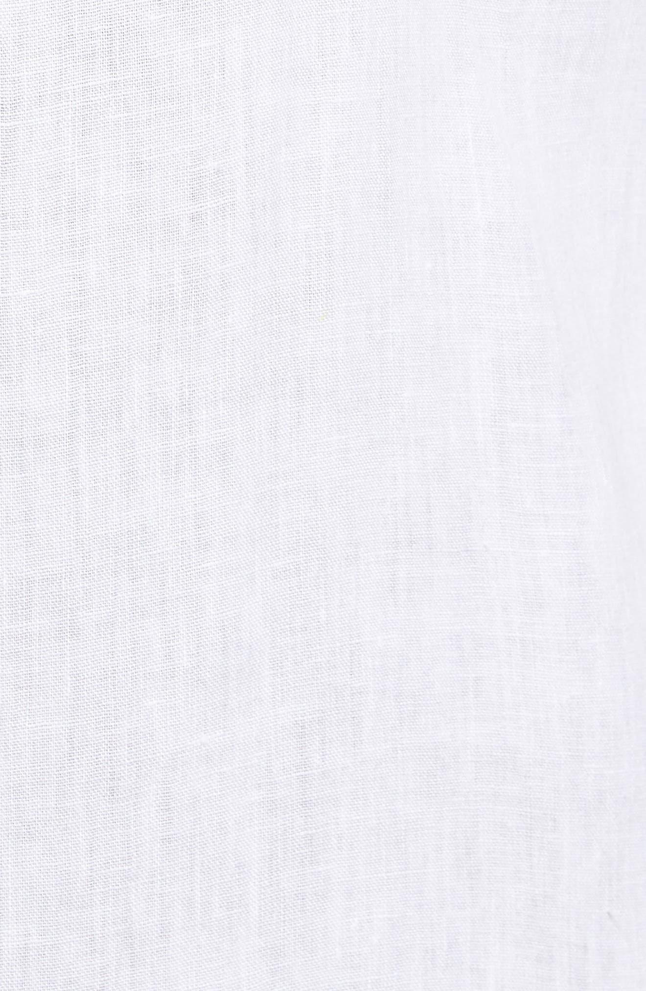 Classic Fit Crown Cool Linen Sport Shirt,                             Alternate thumbnail 5, color,                             100