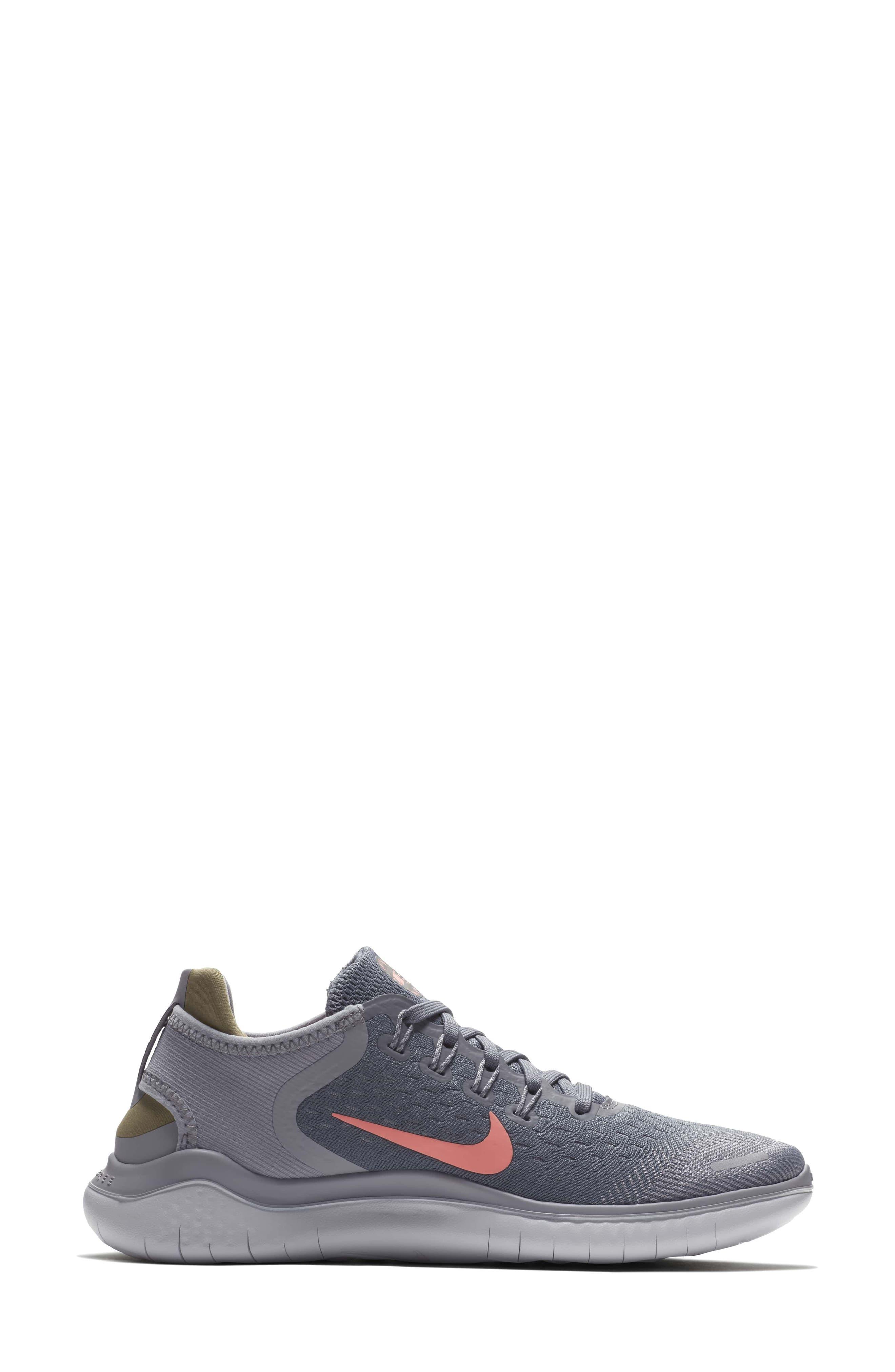 Free RN 2018 Running Shoe,                             Alternate thumbnail 3, color,                             SMOKE/ CRIMSON PULSE