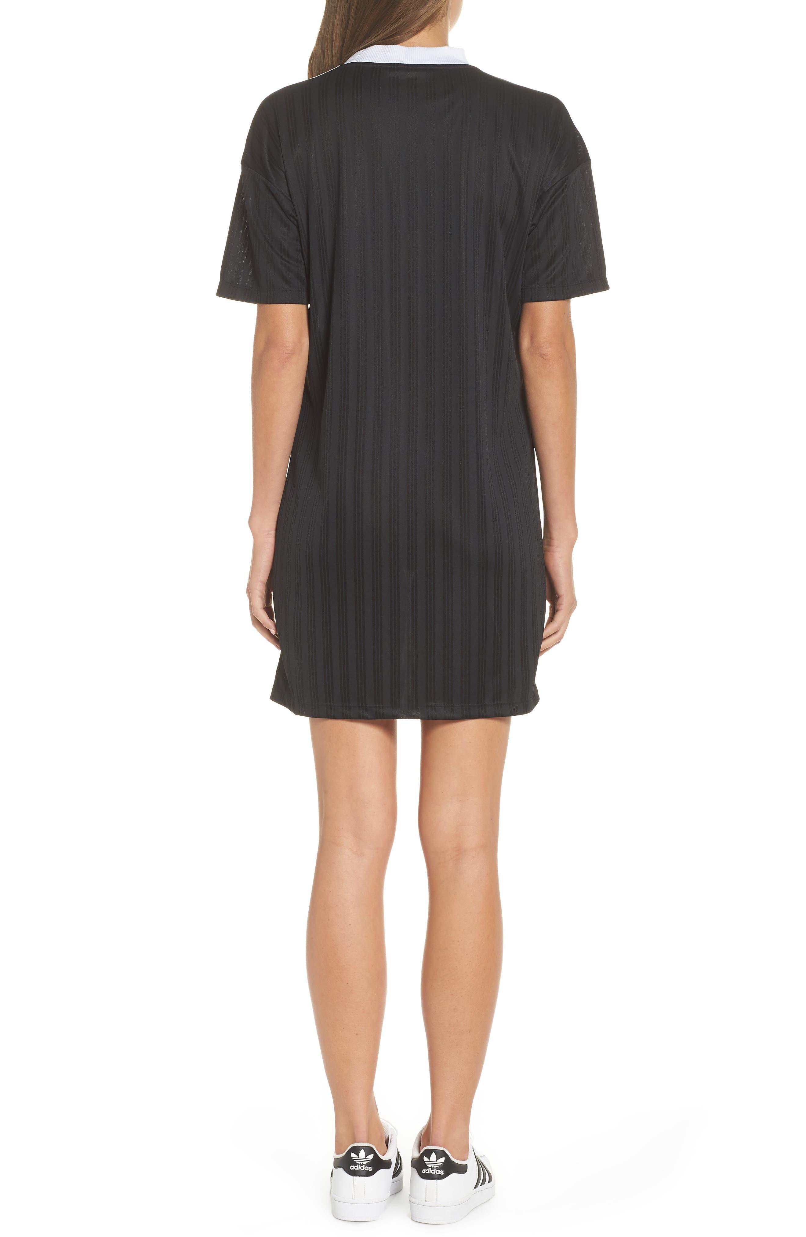 ADIDAS ORIGINALS,                             Trefoil T-Shirt Dress,                             Alternate thumbnail 2, color,                             001