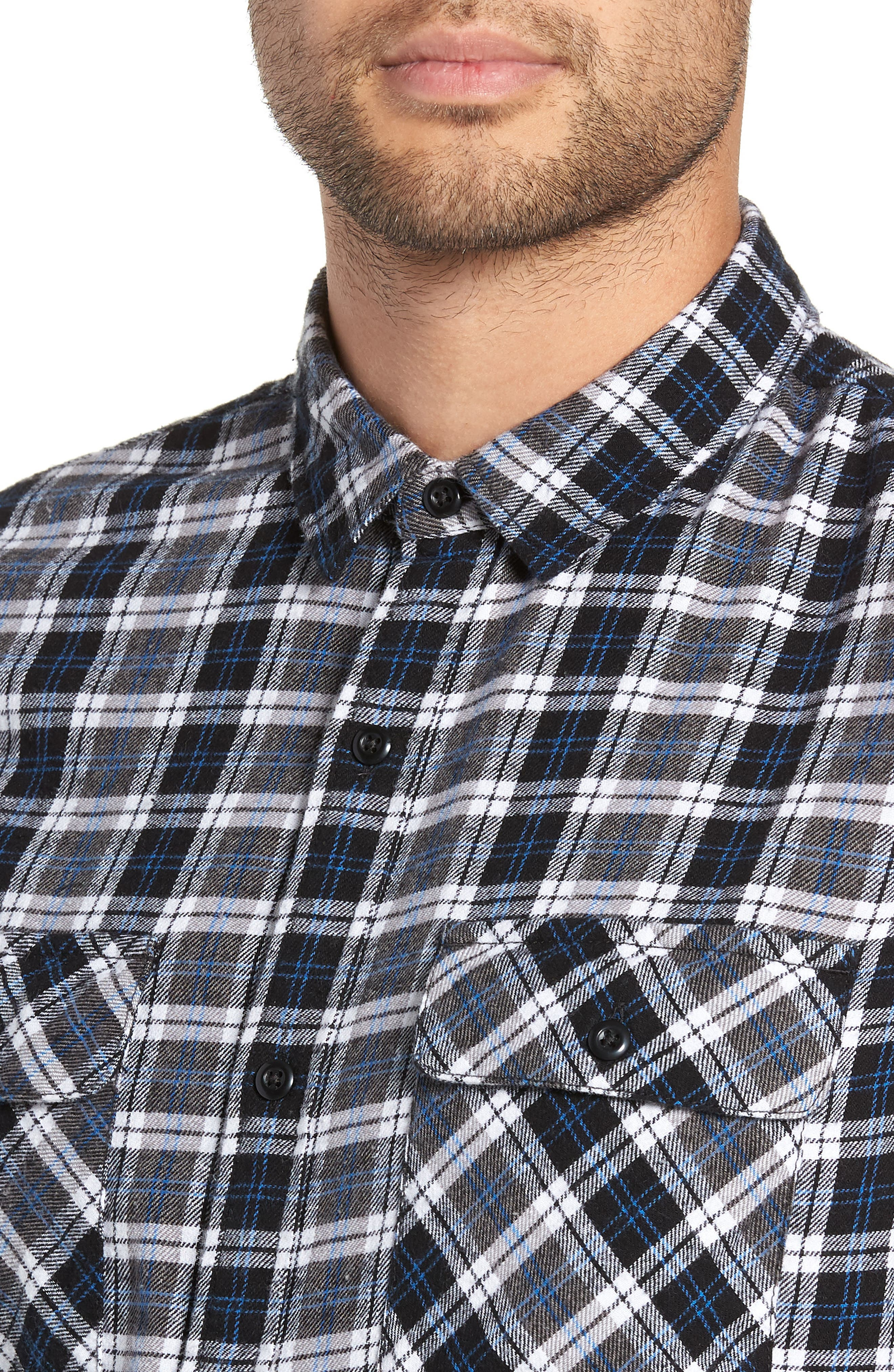 Plaid Flannel Shirt,                             Alternate thumbnail 4, color,                             030
