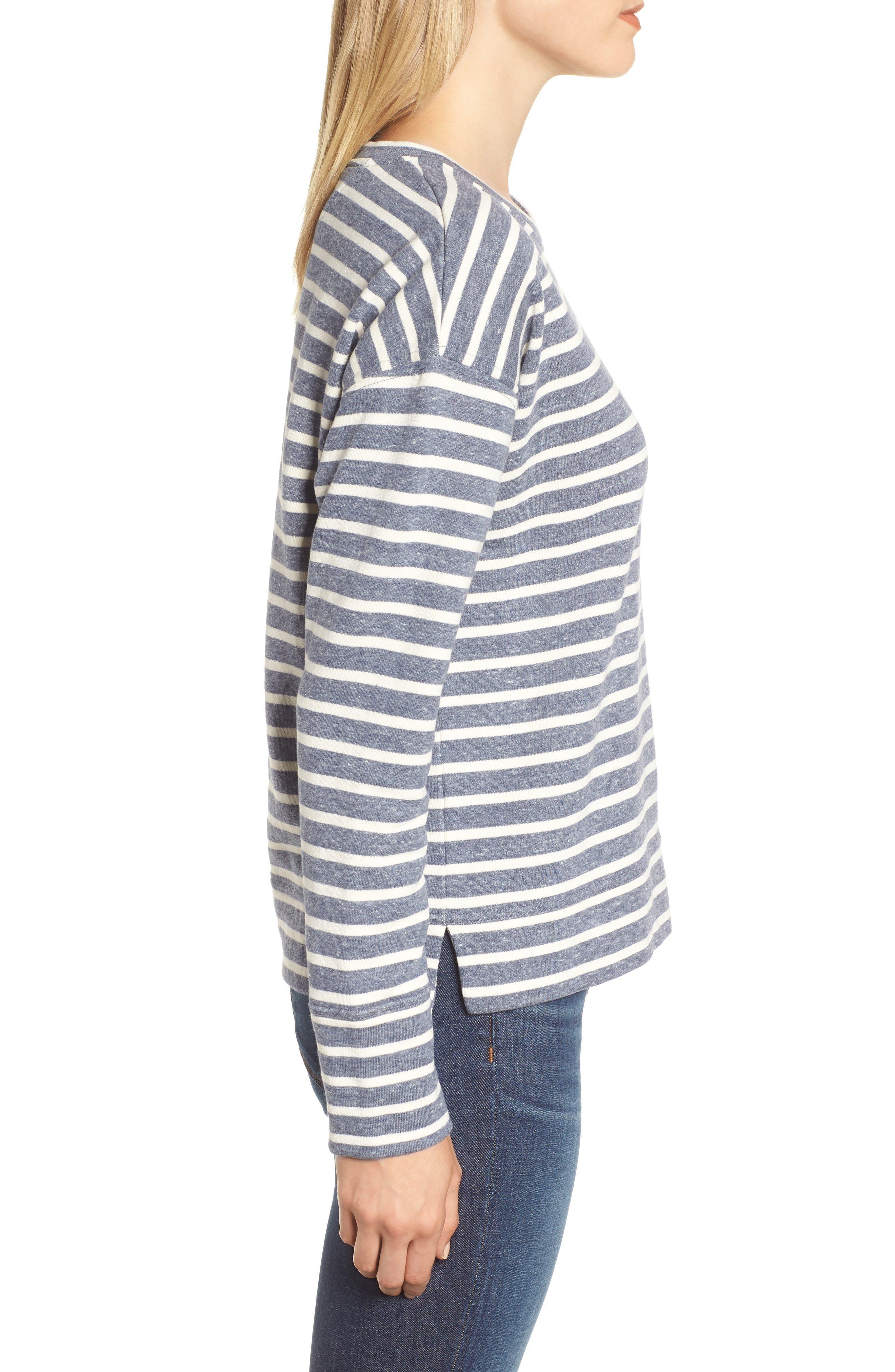 Stripe Sweatshirt,                             Alternate thumbnail 3, color,                             461