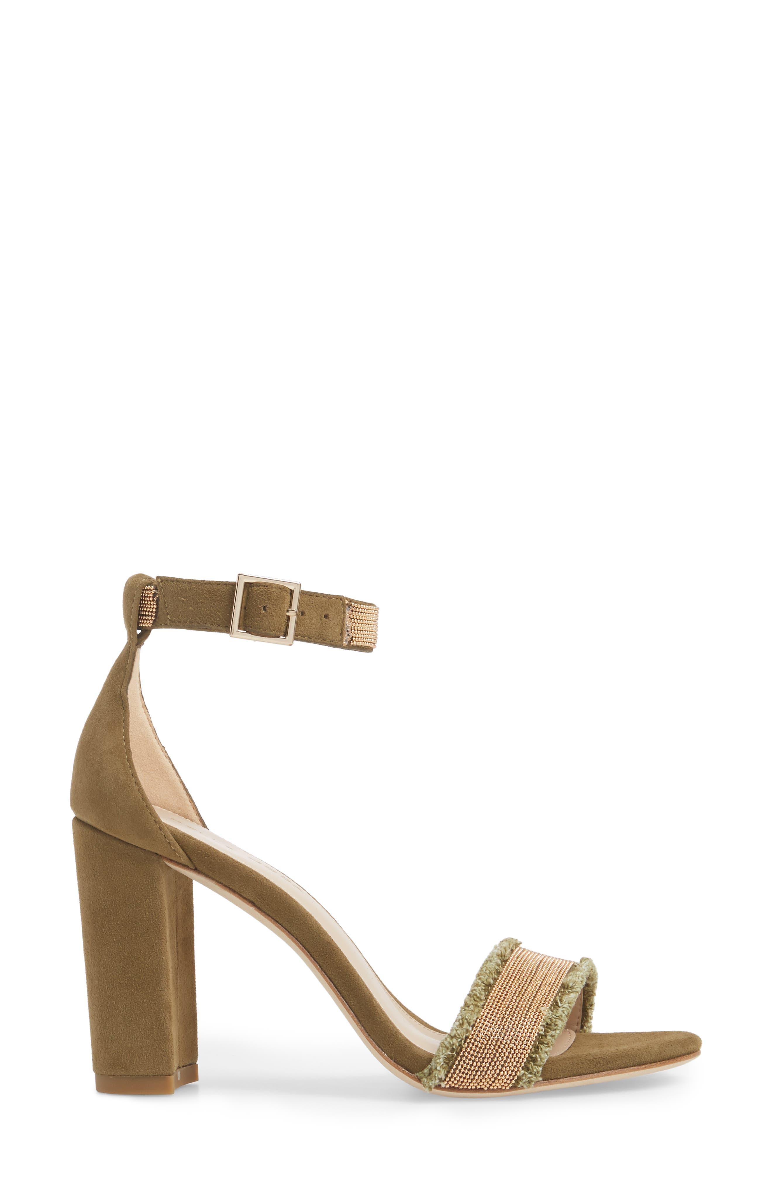 Bonnie6 Embellished Sandal,                             Alternate thumbnail 3, color,                             KHAKI SUEDE