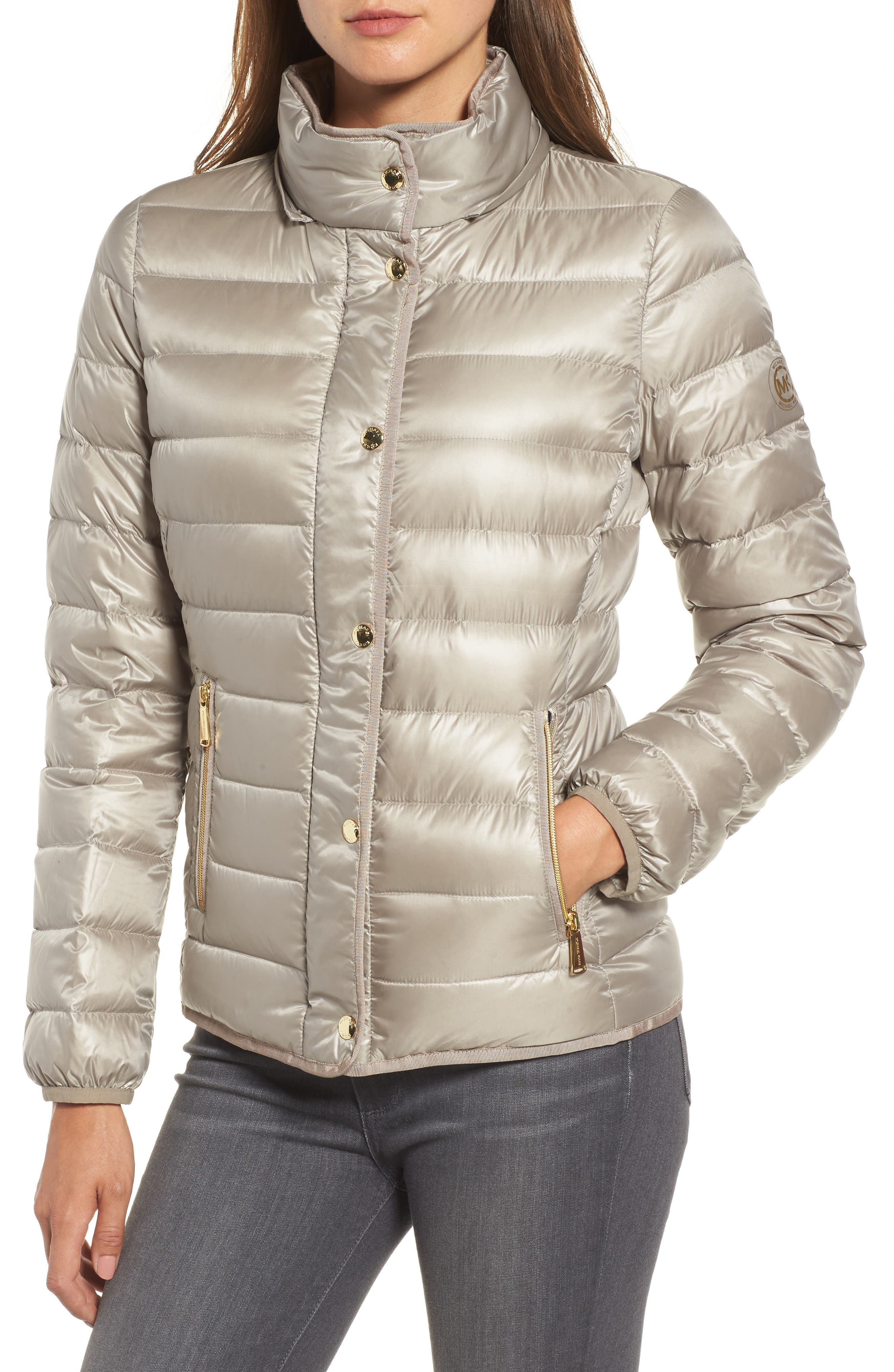 Packable Insulated Jacket with Removable Hood,                             Alternate thumbnail 14, color,