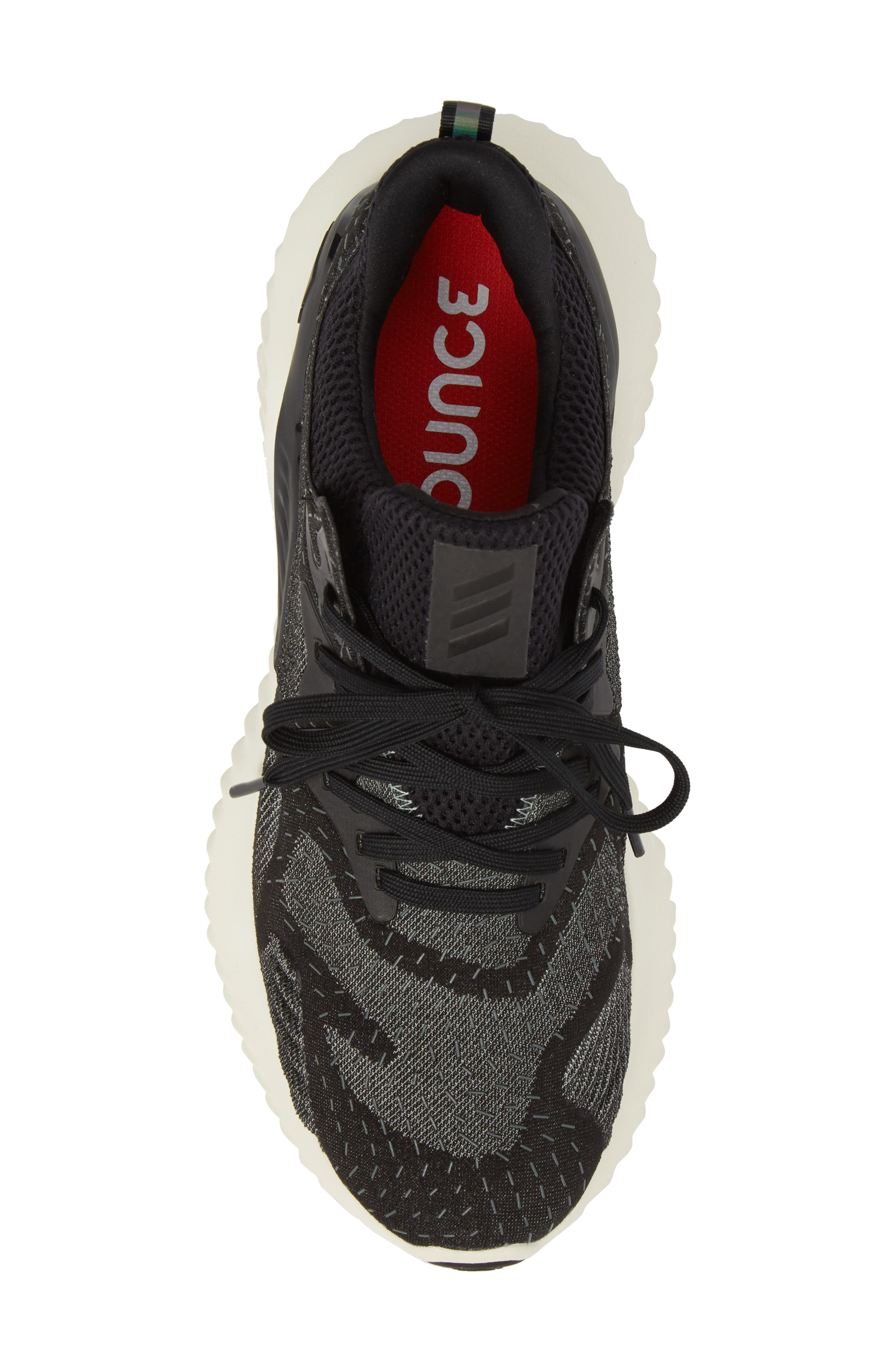 ADIDAS,                             AlphaBounce Beyond Knit Running Shoe,                             Alternate thumbnail 5, color,                             001