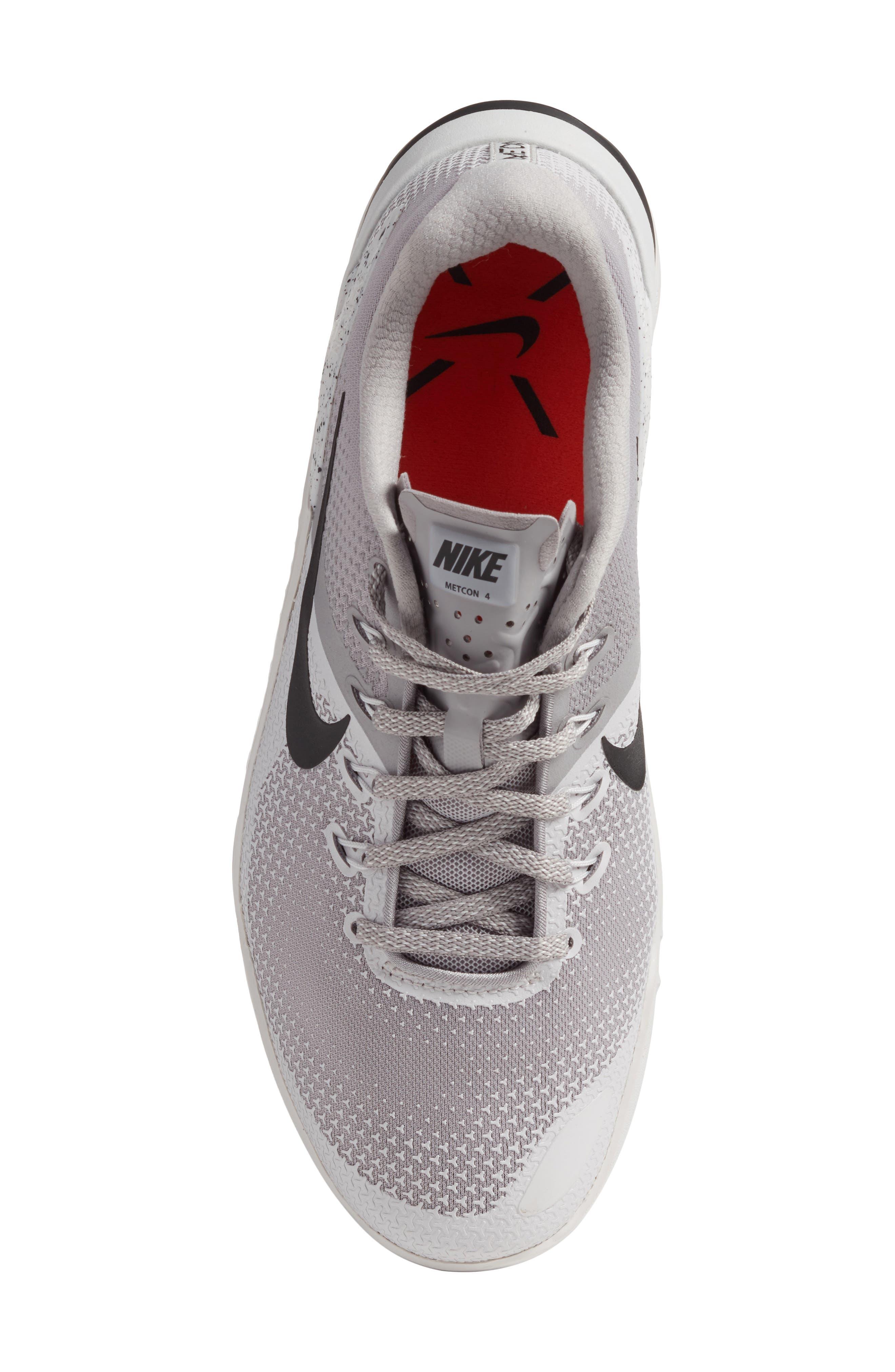 Metcon 4 Training Shoe,                             Alternate thumbnail 5, color,                             ATMOSPHERE GREY/ BLACK