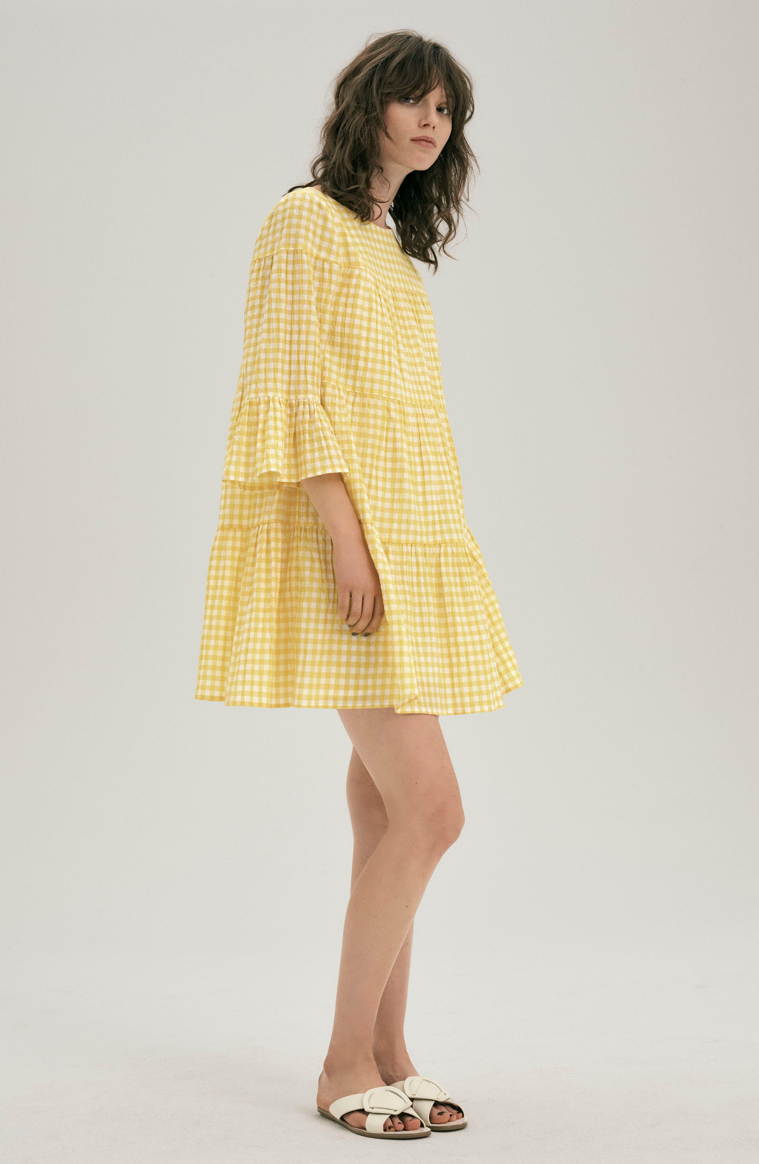 Gingham Swing Dress,                             Alternate thumbnail 7, color,                             740