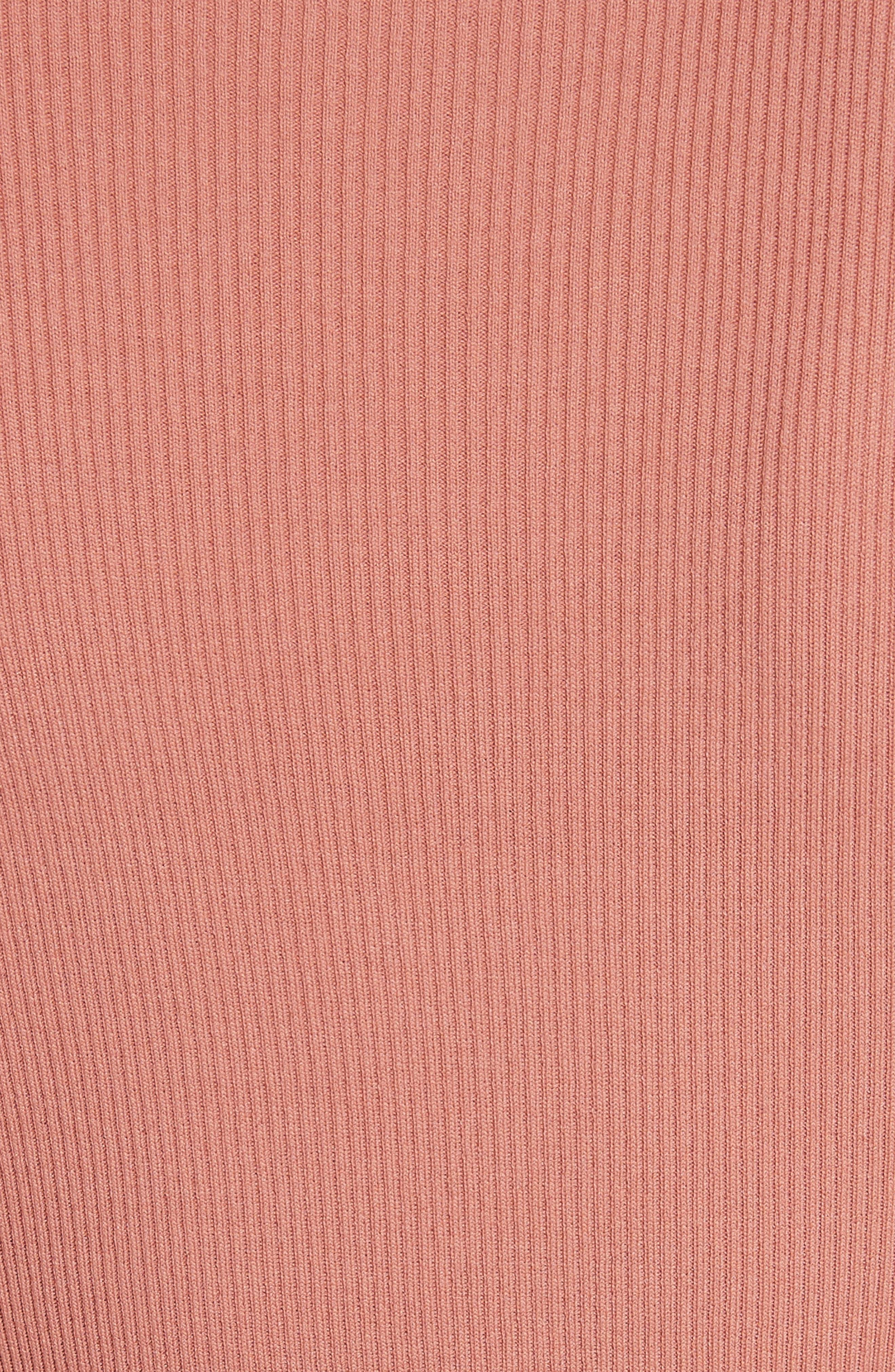 Scallop Stretch Knit Dress,                             Alternate thumbnail 5, color,