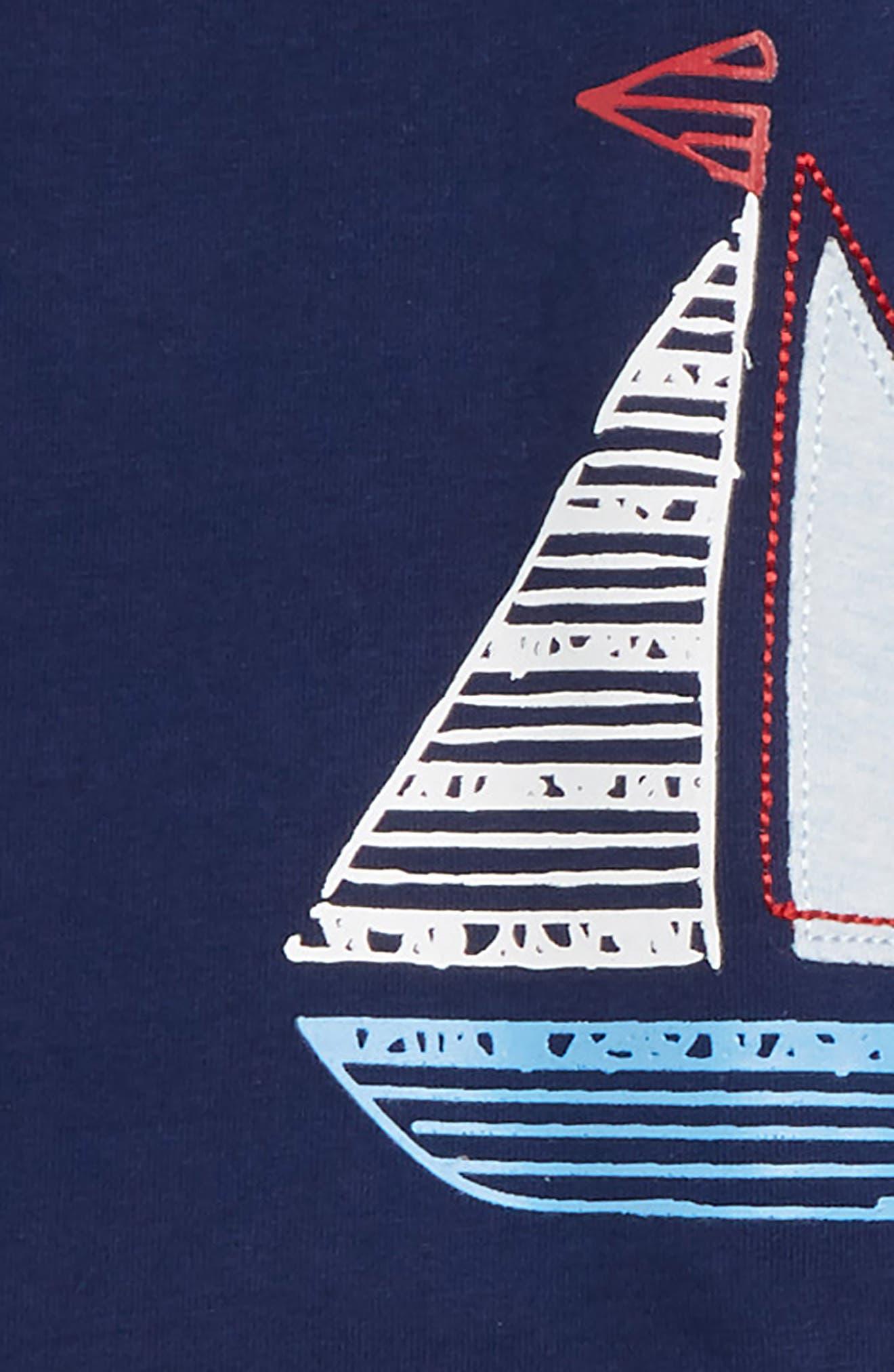Sailboat T-Shirt, Pants & Socks Set,                             Alternate thumbnail 2, color,                             415