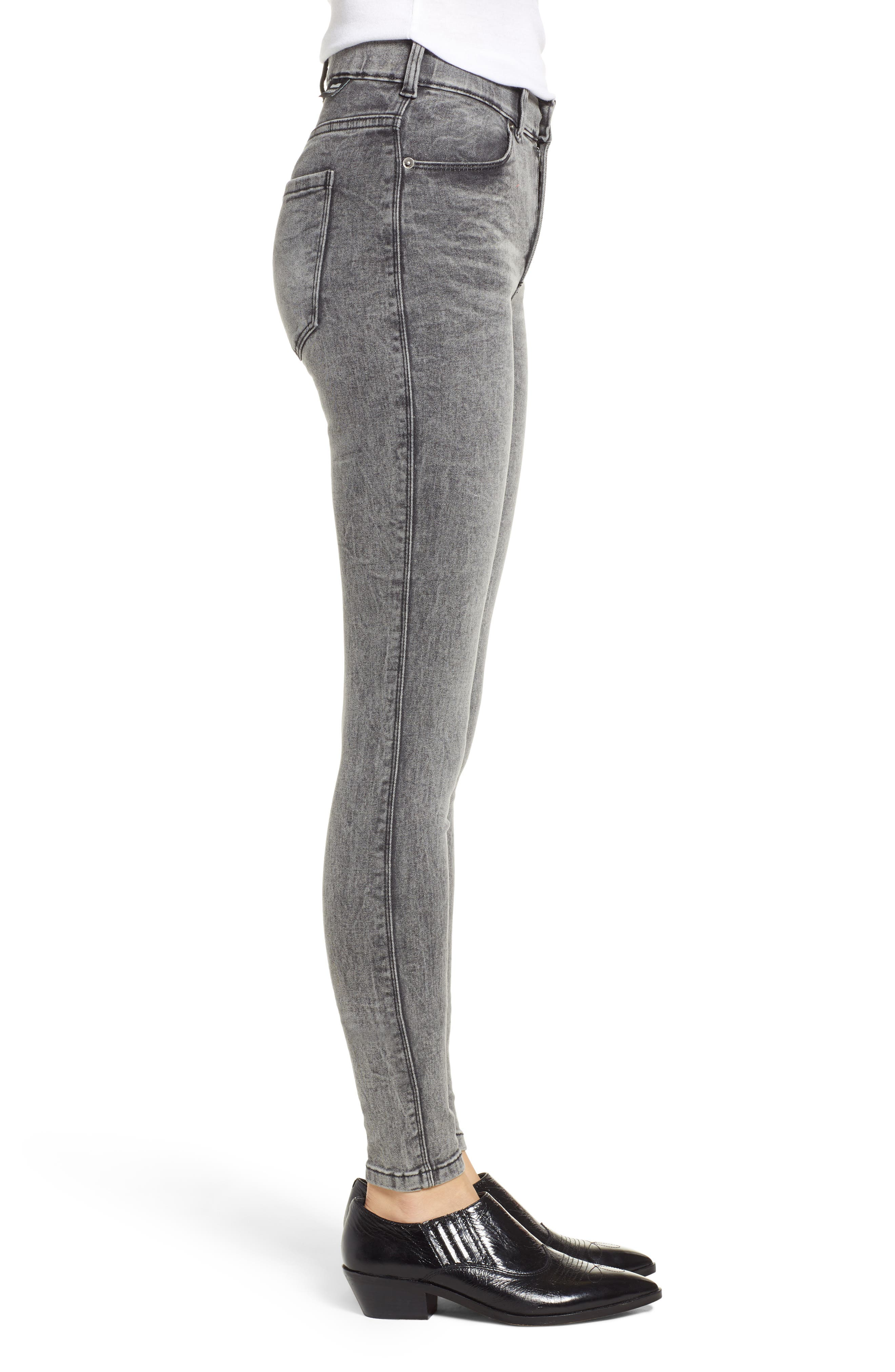Lexy Skinny Jeans,                             Alternate thumbnail 3, color,                             BOULDER GREY