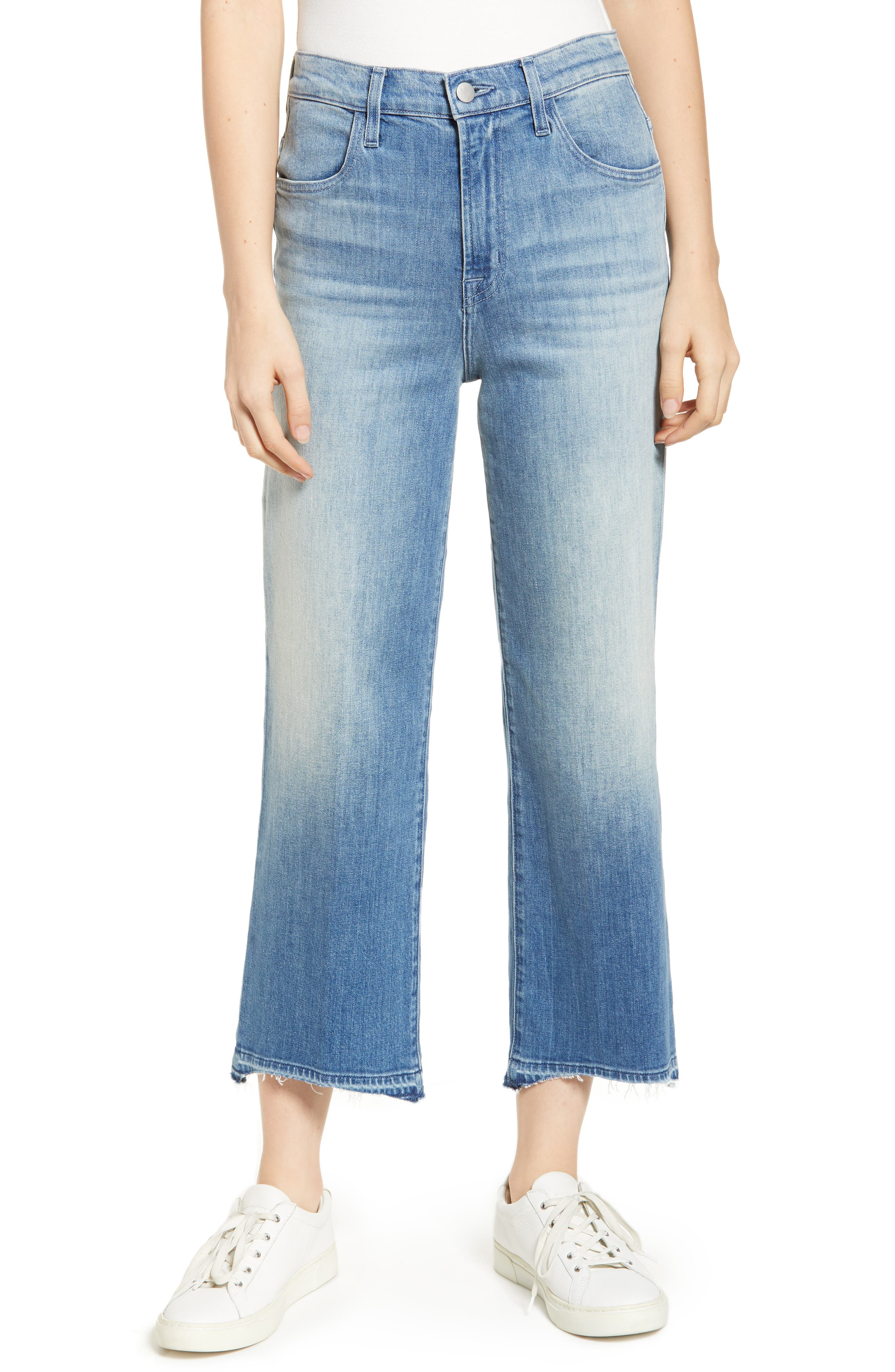 Joan High-Rise Wide-Leg Cropped Jeans in Spirit