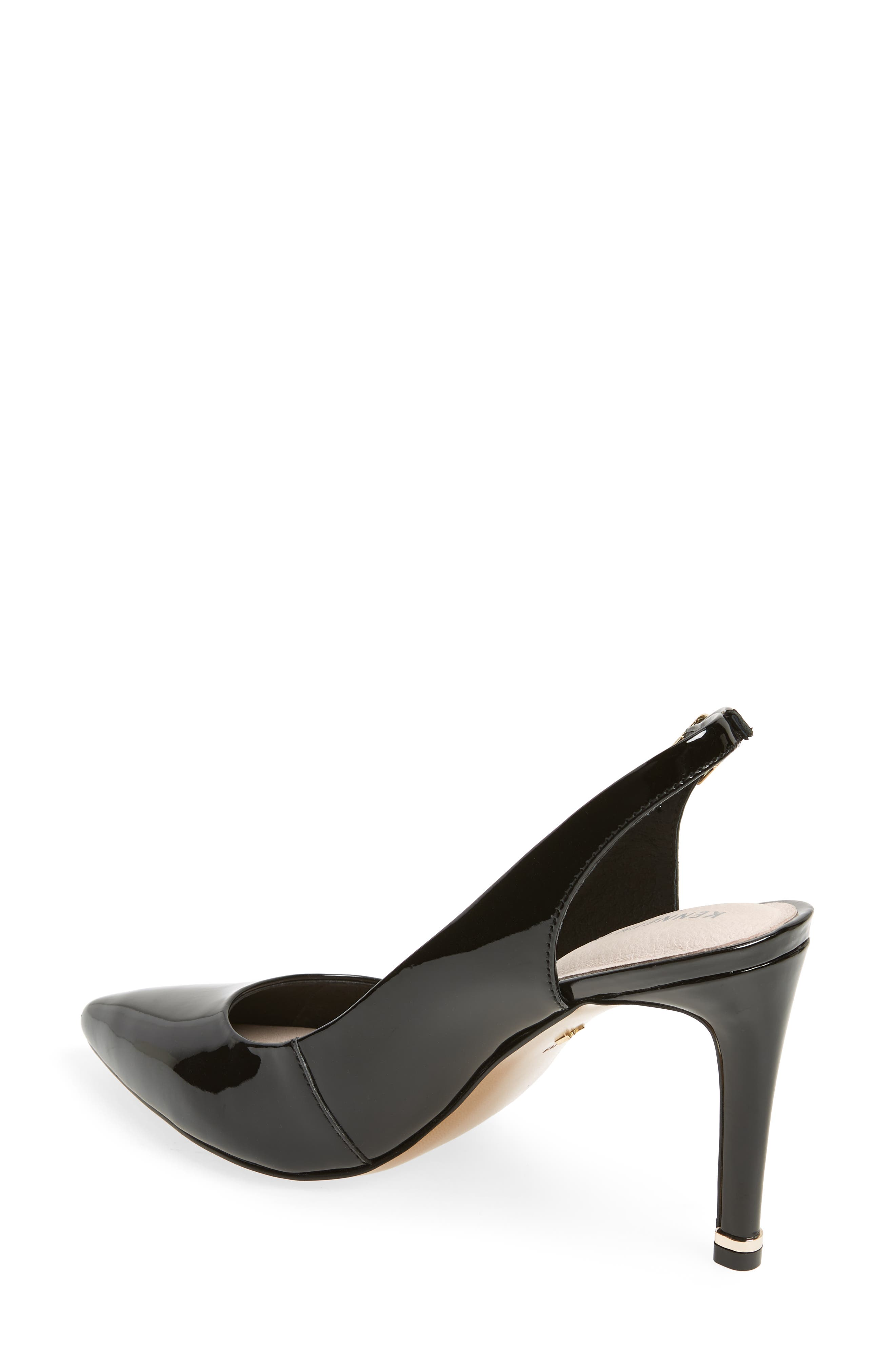KENNETH COLE NEW YORK,                             Riley 85 Slingback Pump,                             Alternate thumbnail 2, color,                             BLACK PATENT LEATHER
