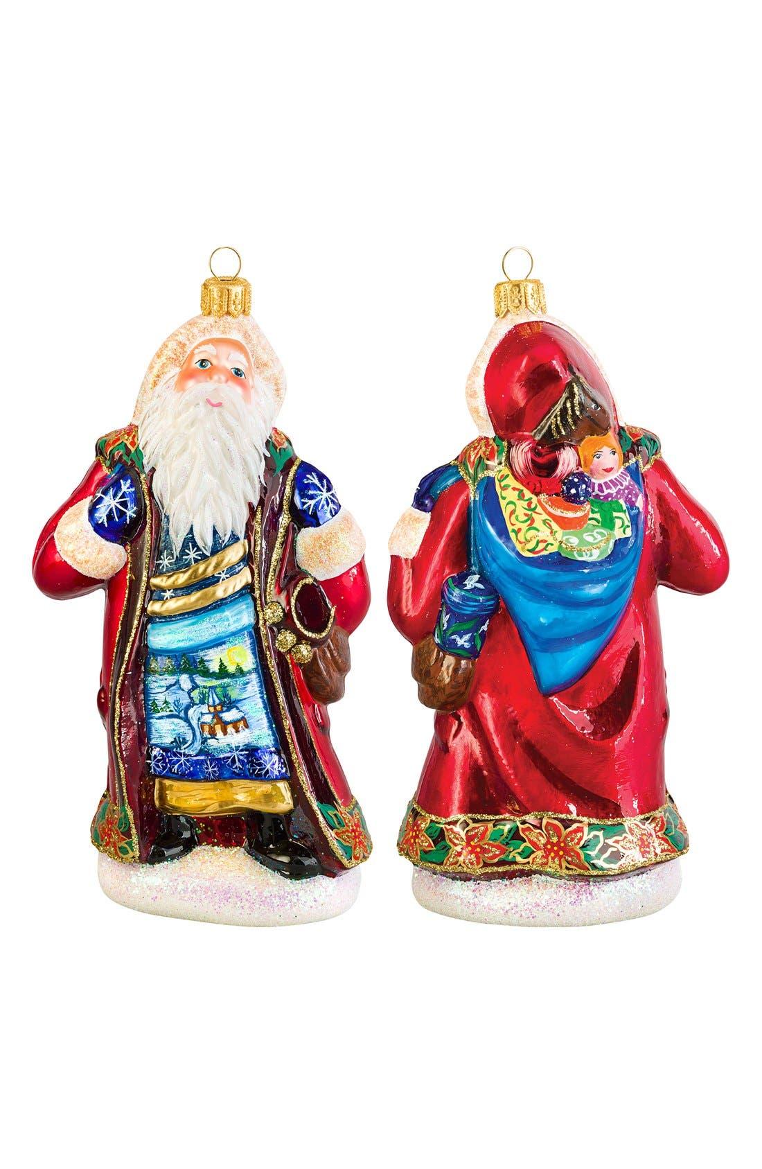 Metzler Brothers Budapest Santa Ornament,                             Main thumbnail 1, color,                             TRADITIONAL