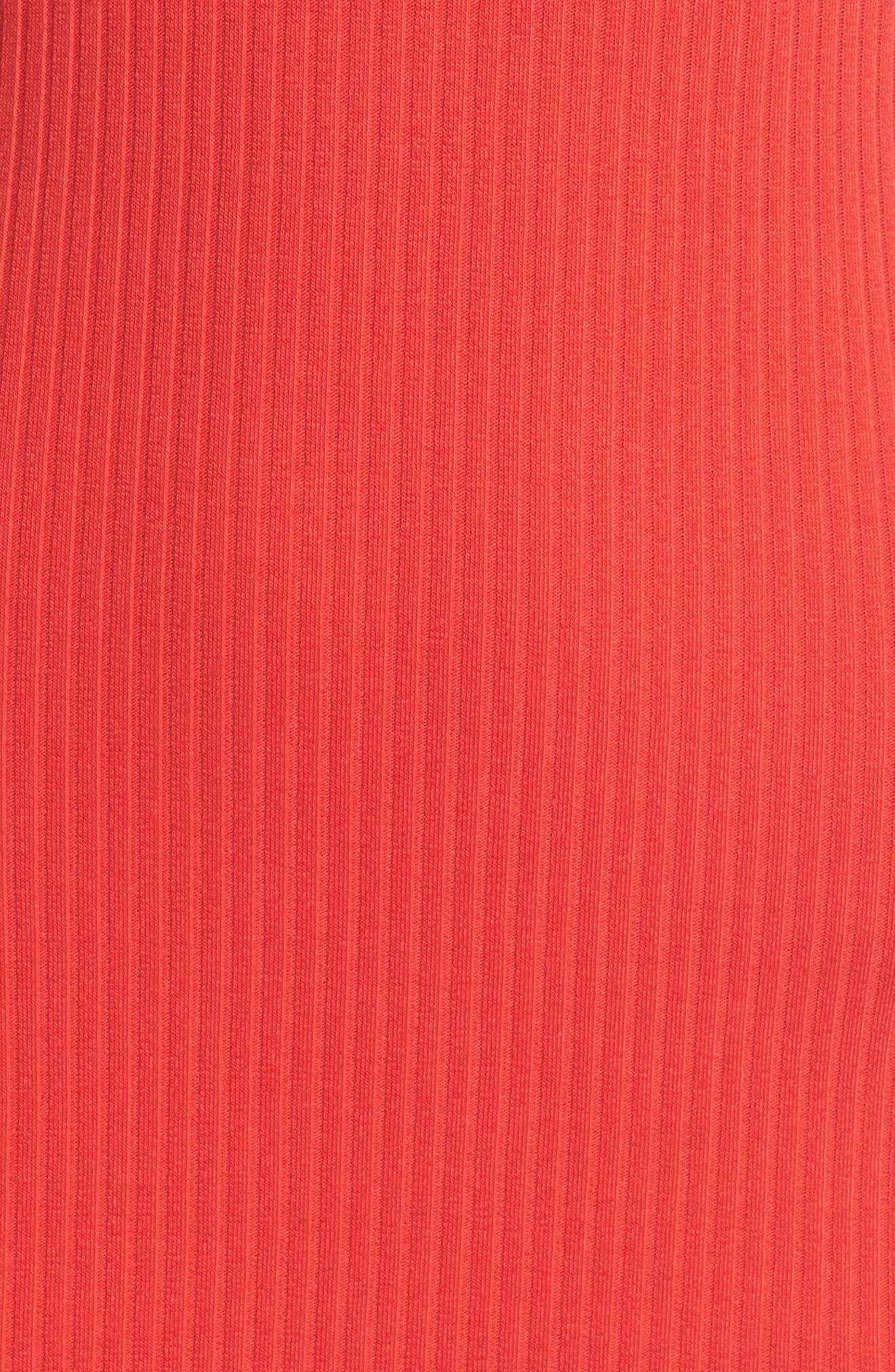 Tommy Rib Knit Tank Dress,                             Alternate thumbnail 6, color,                             SHANGHAI RED