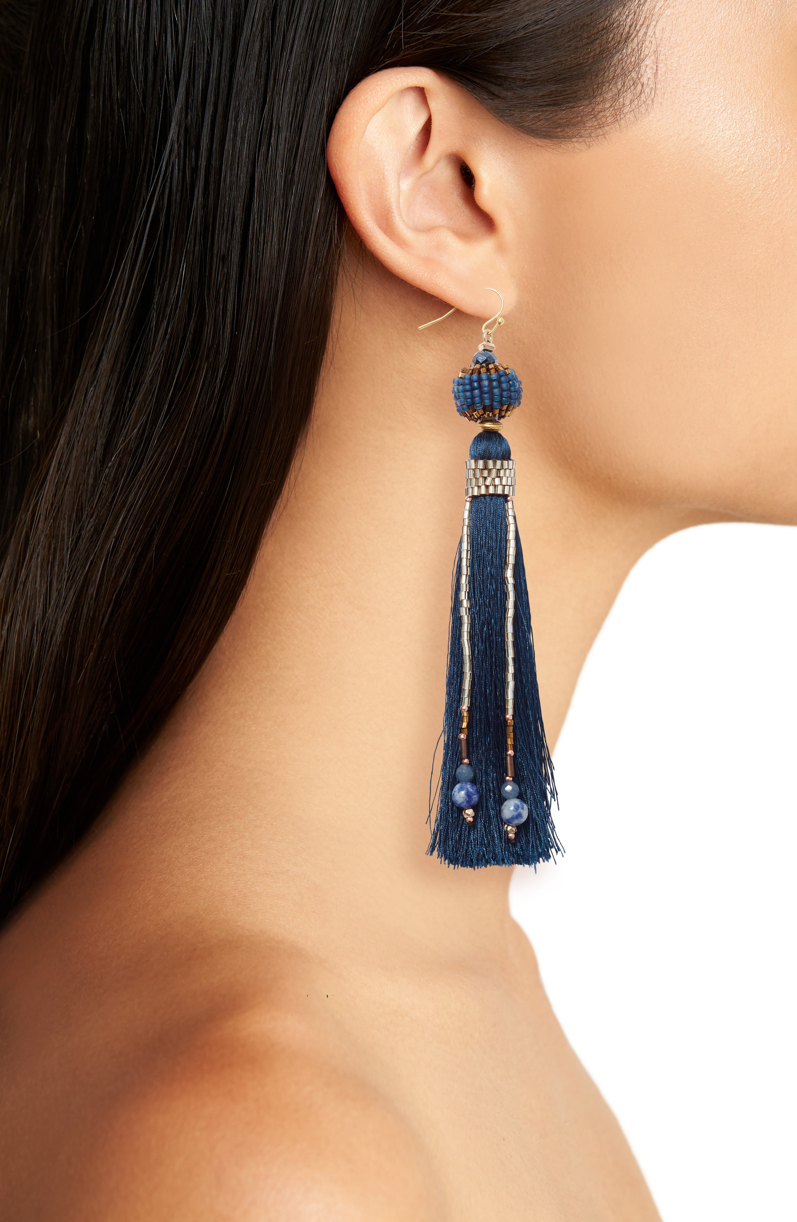 Tassel & Chain Earrings,                             Alternate thumbnail 2, color,                             400