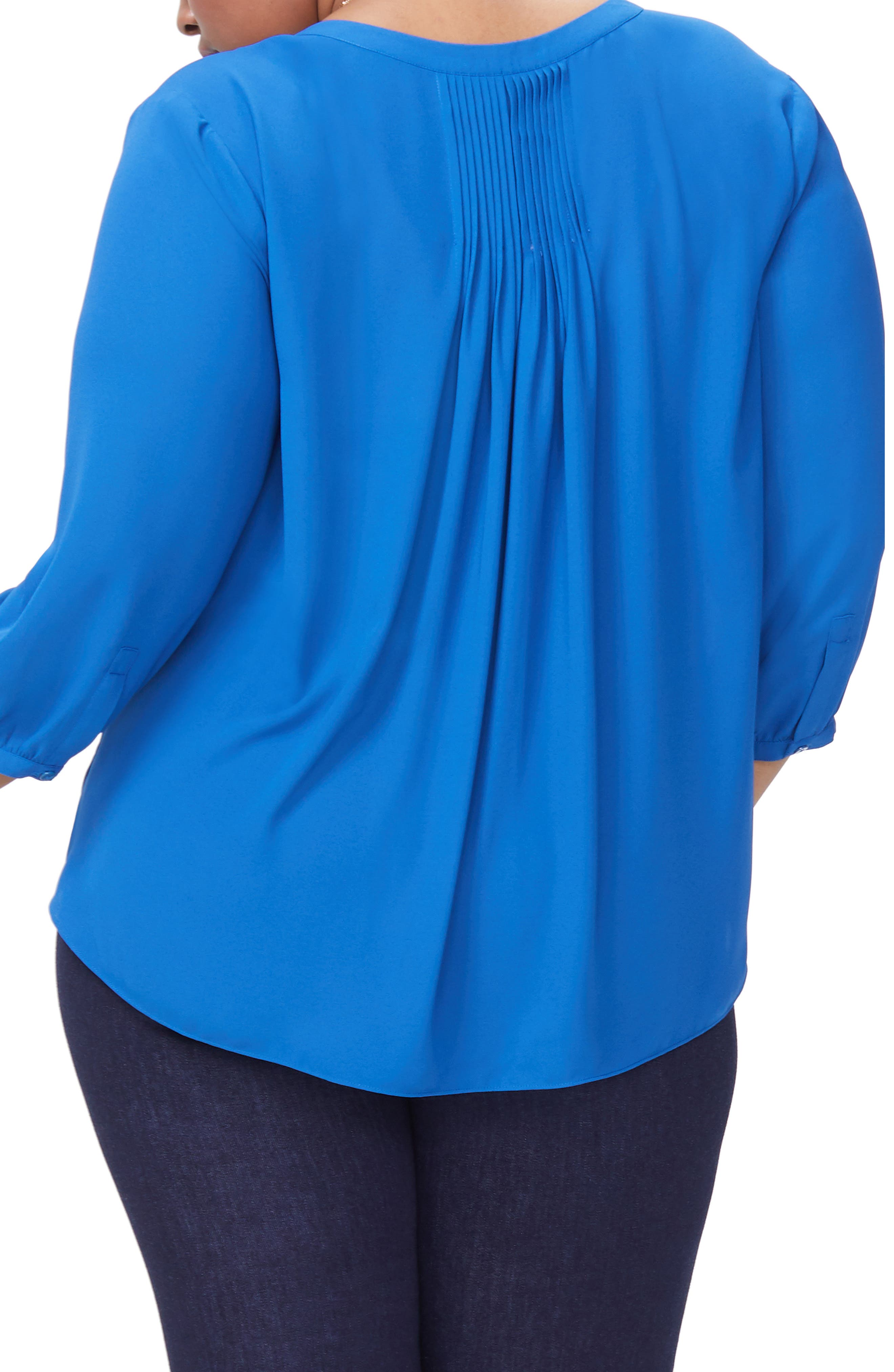 Blouse,                             Alternate thumbnail 2, color,                             ALPINE LAKE