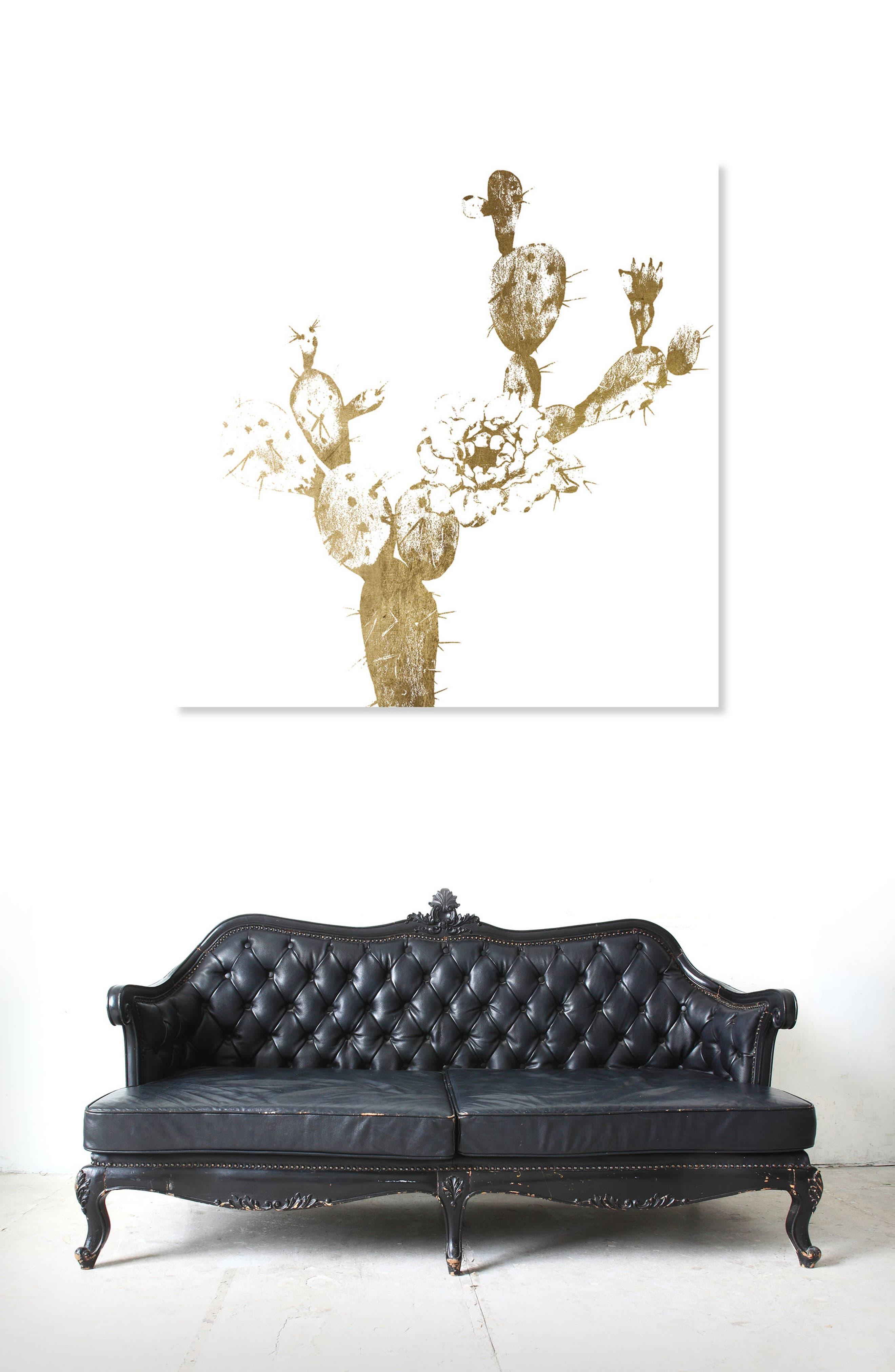Cactus Gold I Canvas Wall Art,                             Alternate thumbnail 2, color,                             METALLIC GOLD