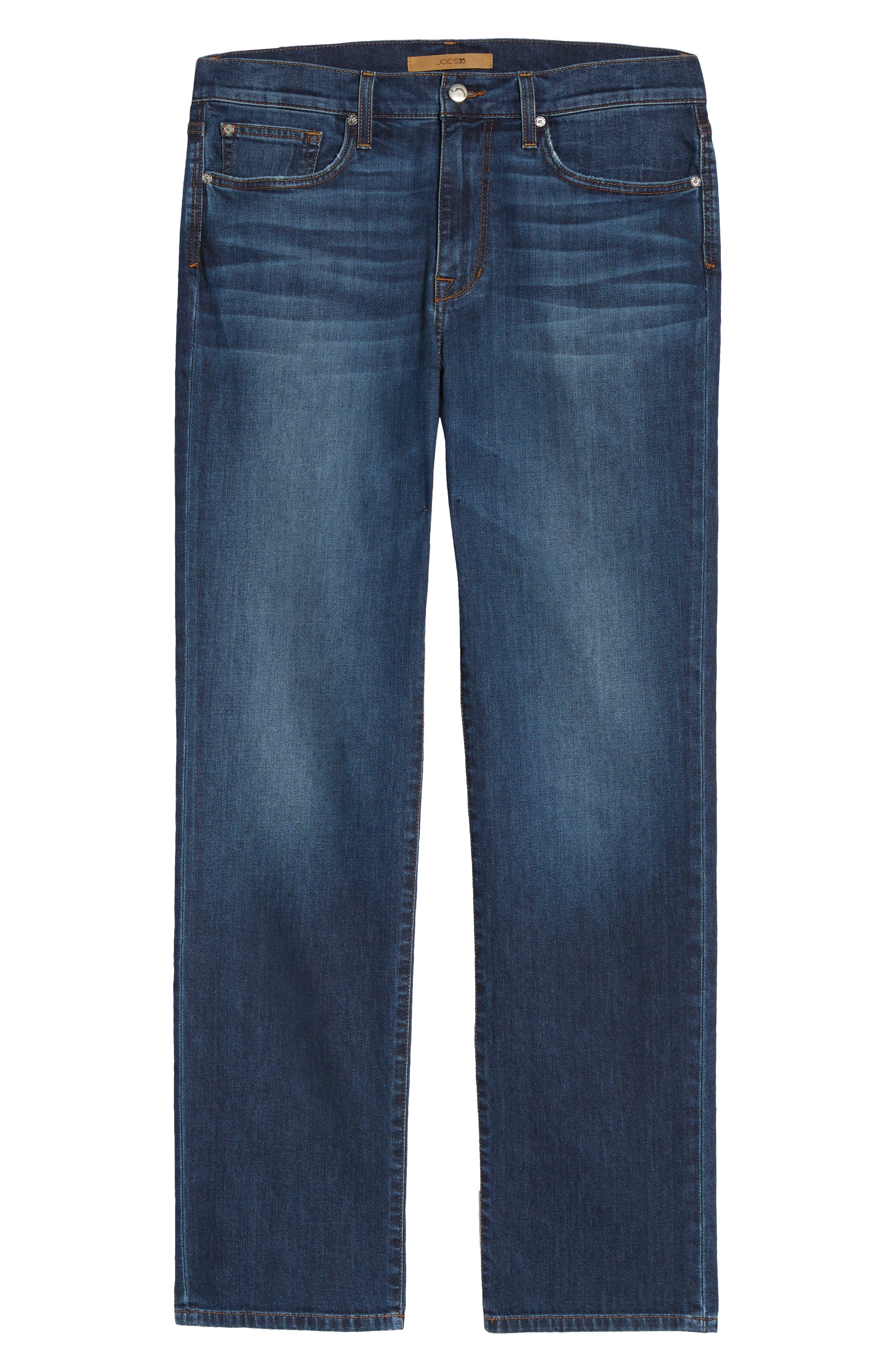 Classic Straight Leg Jeans,                             Alternate thumbnail 6, color,                             VALEN