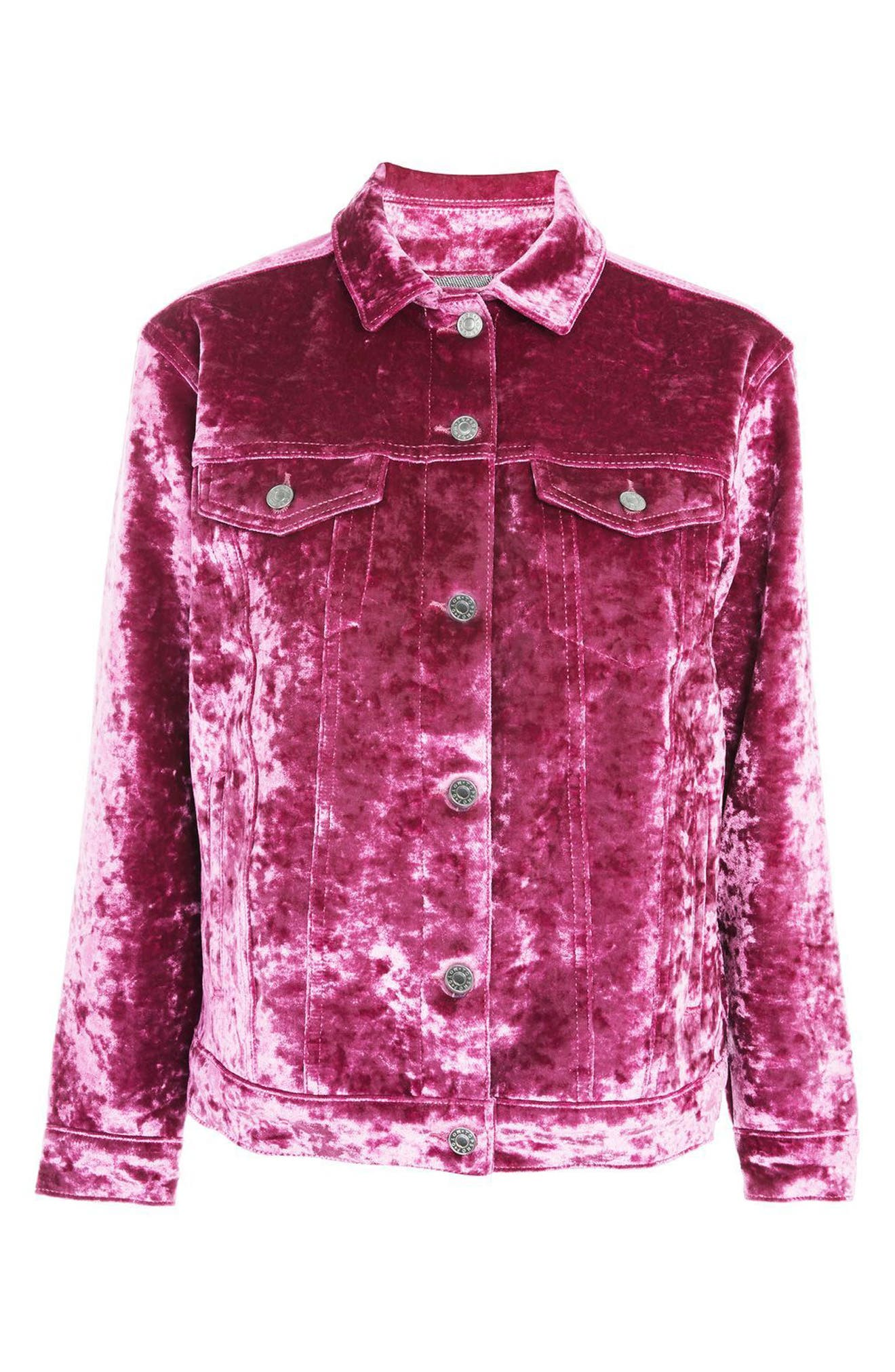 Bonded Velvet Jacket,                             Alternate thumbnail 4, color,