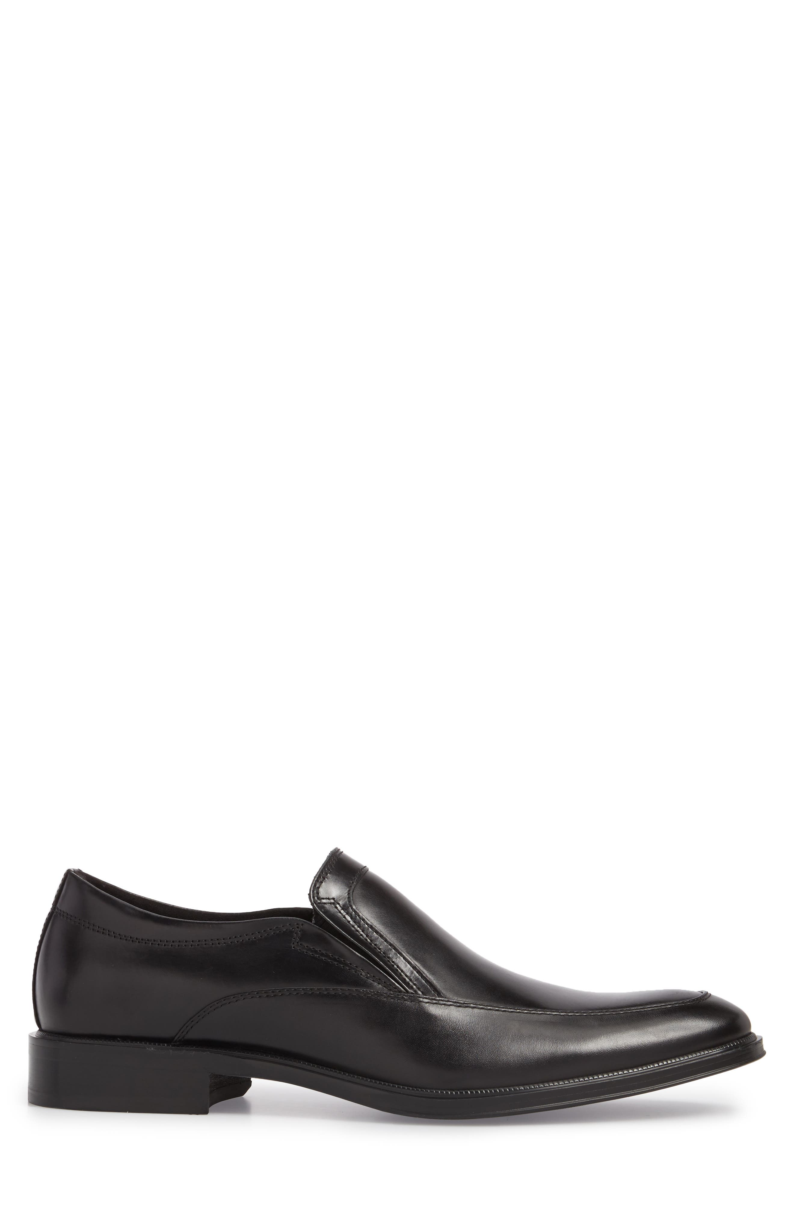 KENNETH COLE NEW YORK,                             Tully Venetian Loafer,                             Alternate thumbnail 3, color,                             BLACK LEATHER