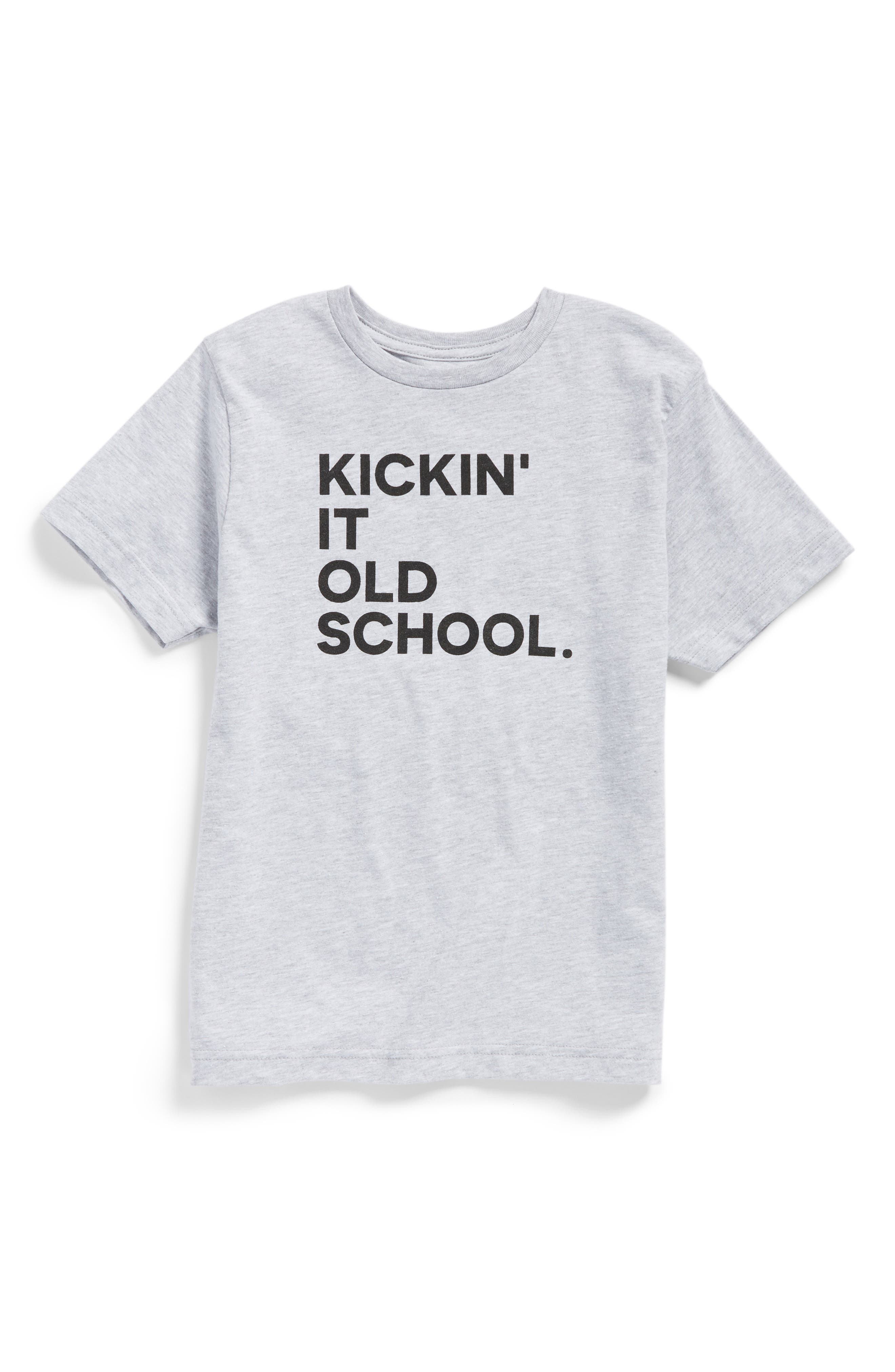 Kickin' It Old School Graphic T-Shirt,                         Main,                         color, 020