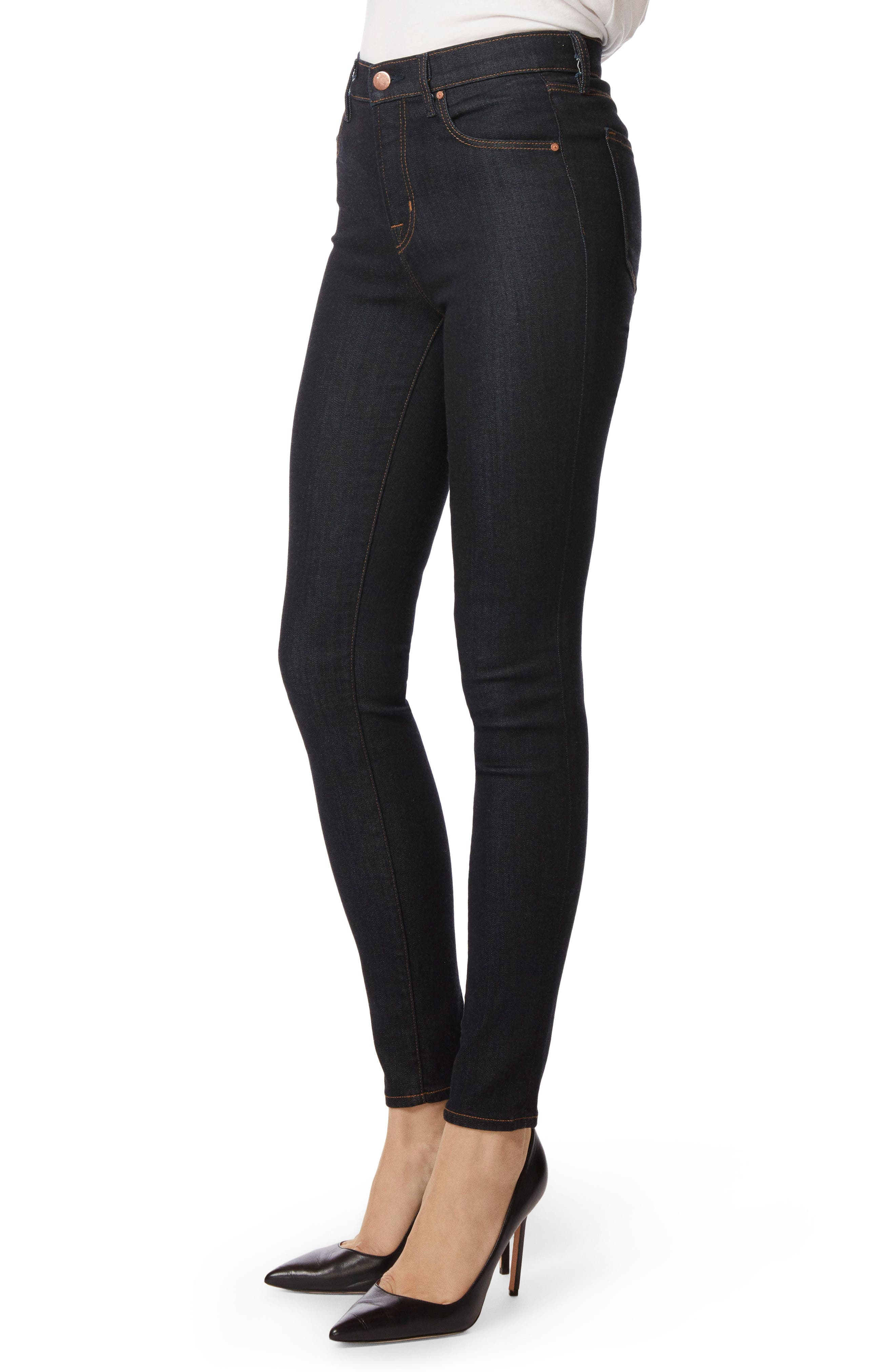 Maria High Waist Super Skinny Jeans,                             Alternate thumbnail 3, color,                             AFTER DARK