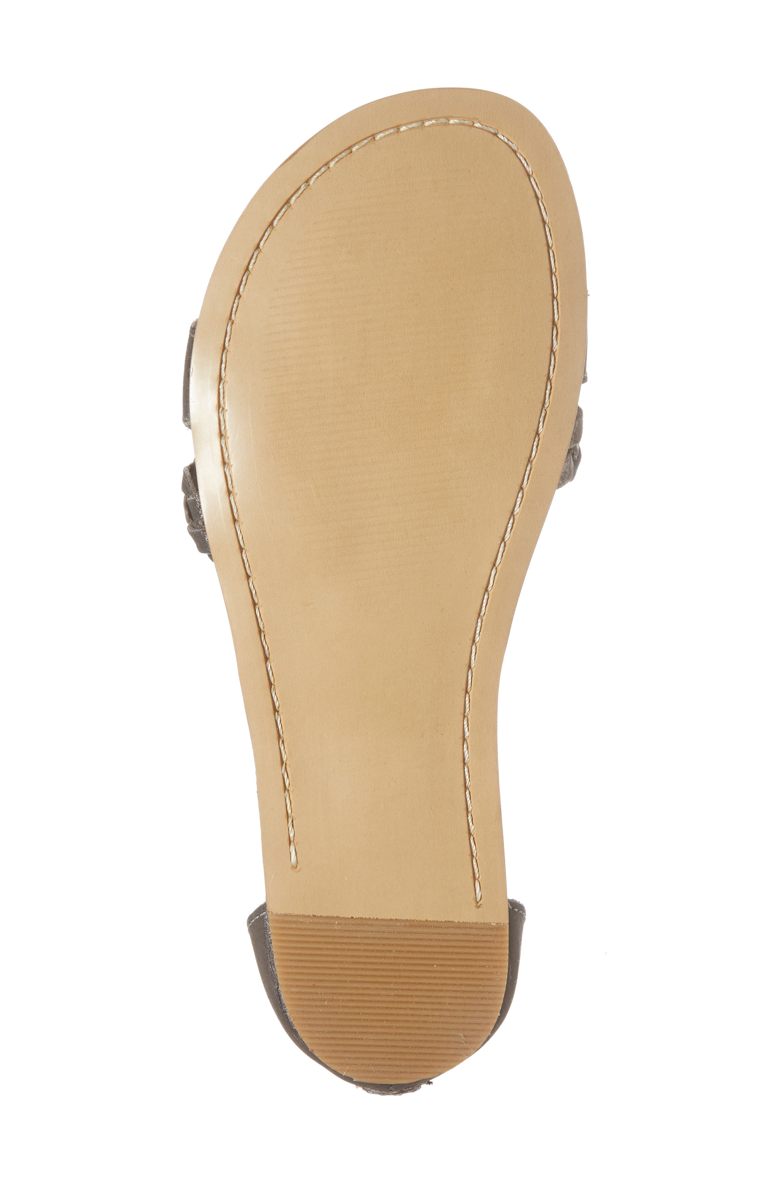 Posey Braided V-Strap Sandal,                             Alternate thumbnail 6, color,                             SYDNEY BLACK