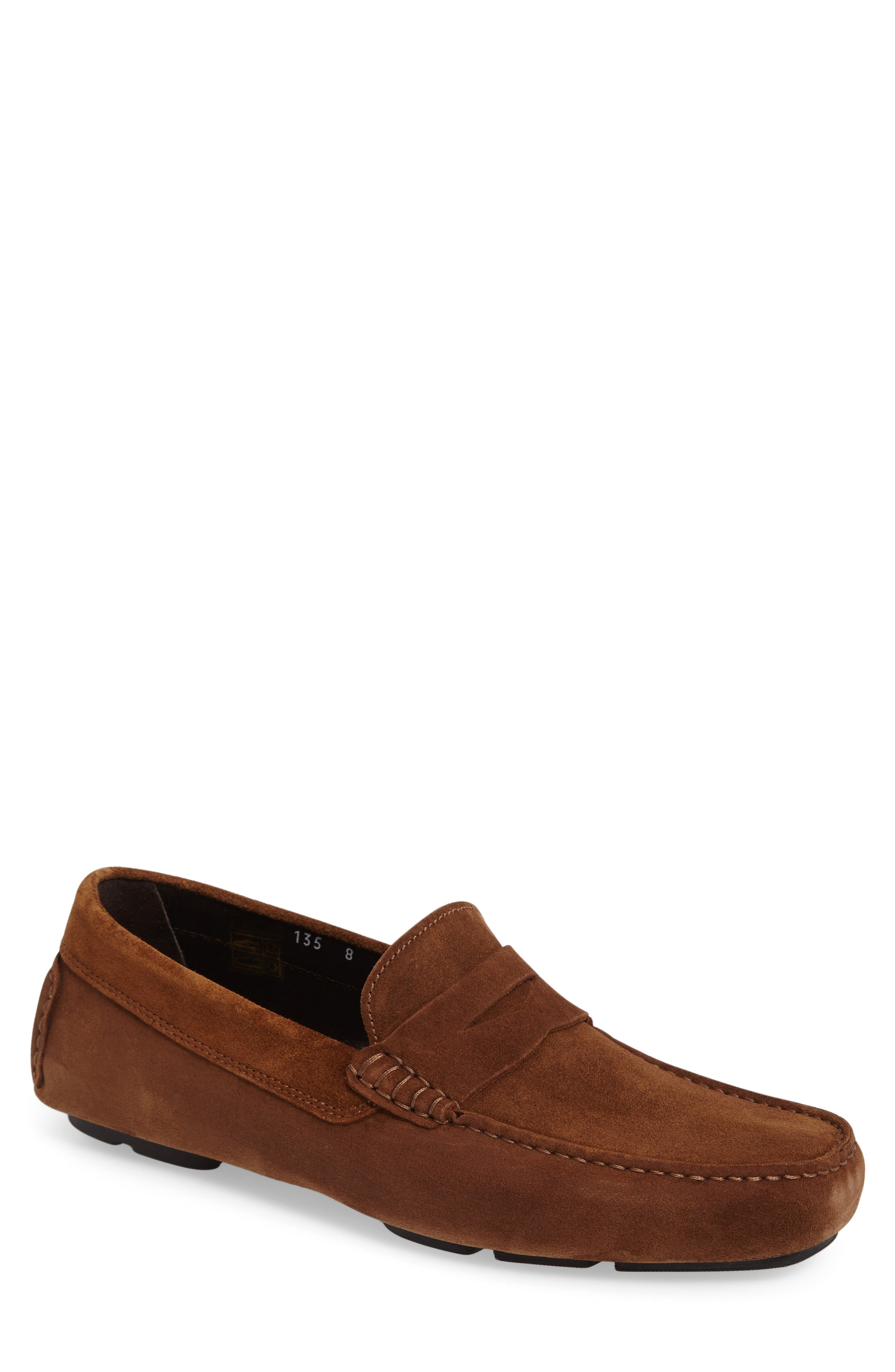 Mitchum Driving Shoe,                         Main,                         color, BROWN/ BROWN SUEDE