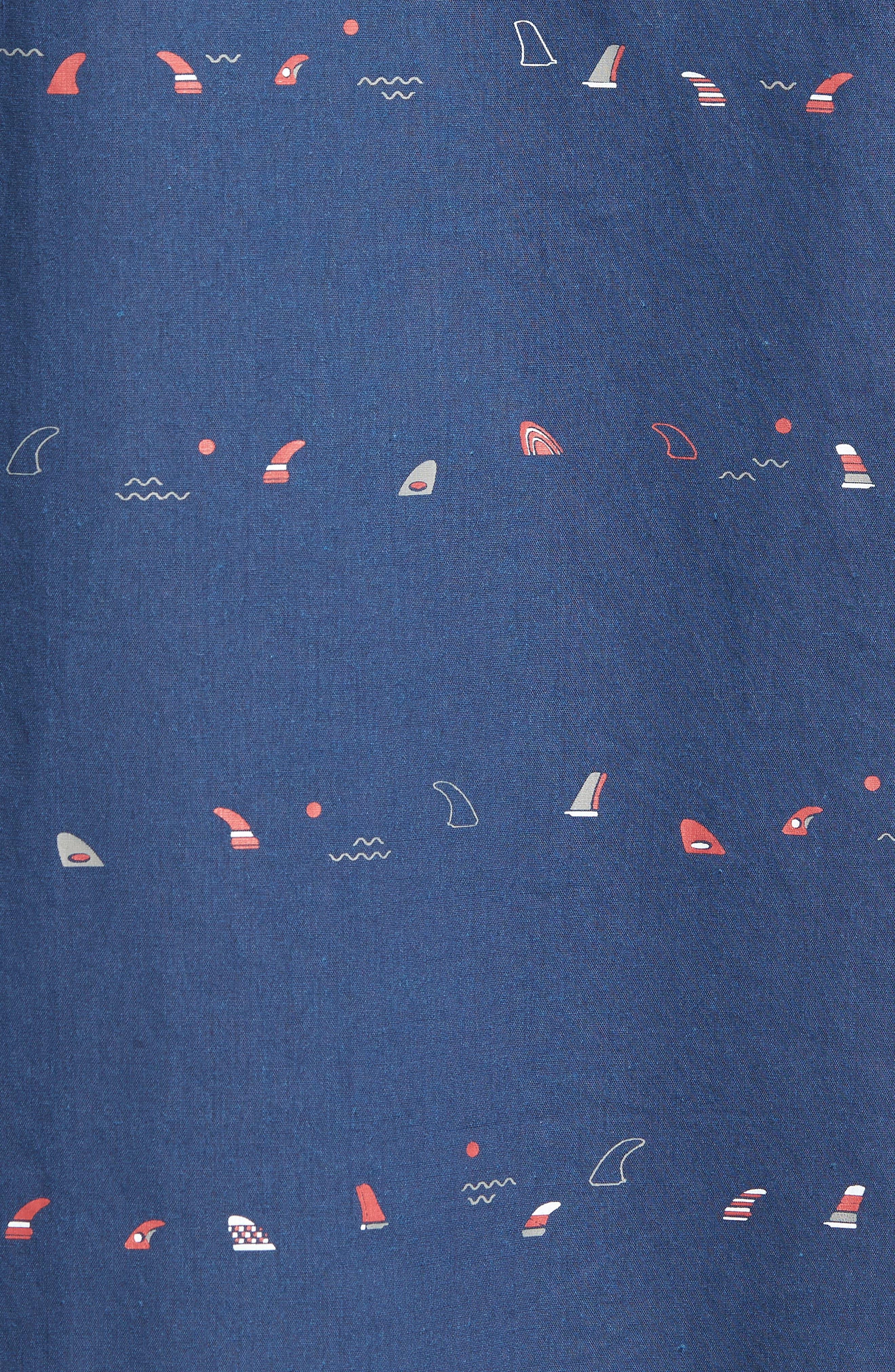 Single Fin Regular Fit Short Sleeve Sport Shirt,                             Alternate thumbnail 10, color,