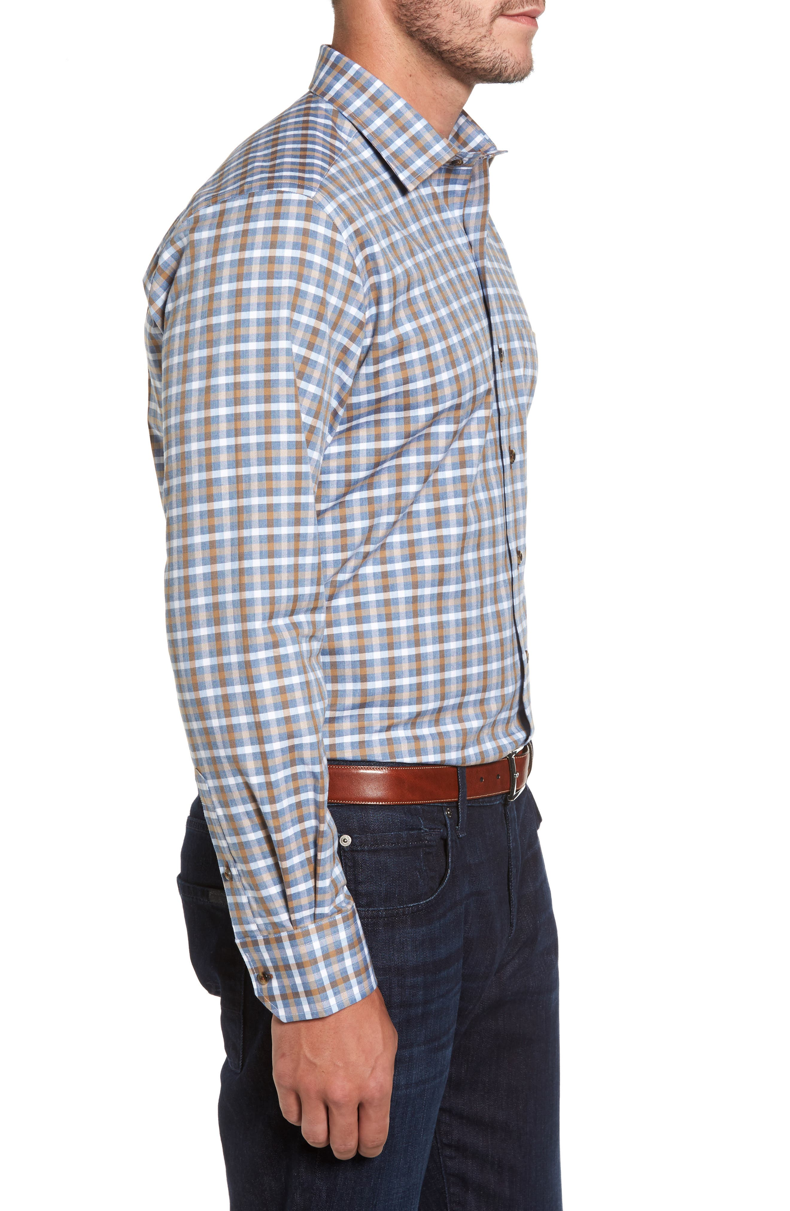 Plaid Regular Fit Sport Shirt,                             Alternate thumbnail 6, color,