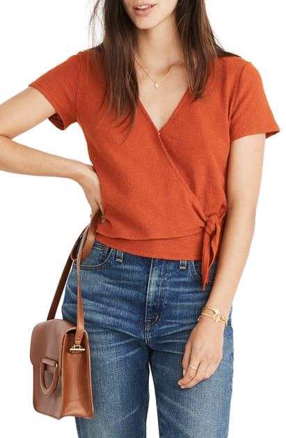 Madewell Tops TEXTURE & THREAD WRAP TOP