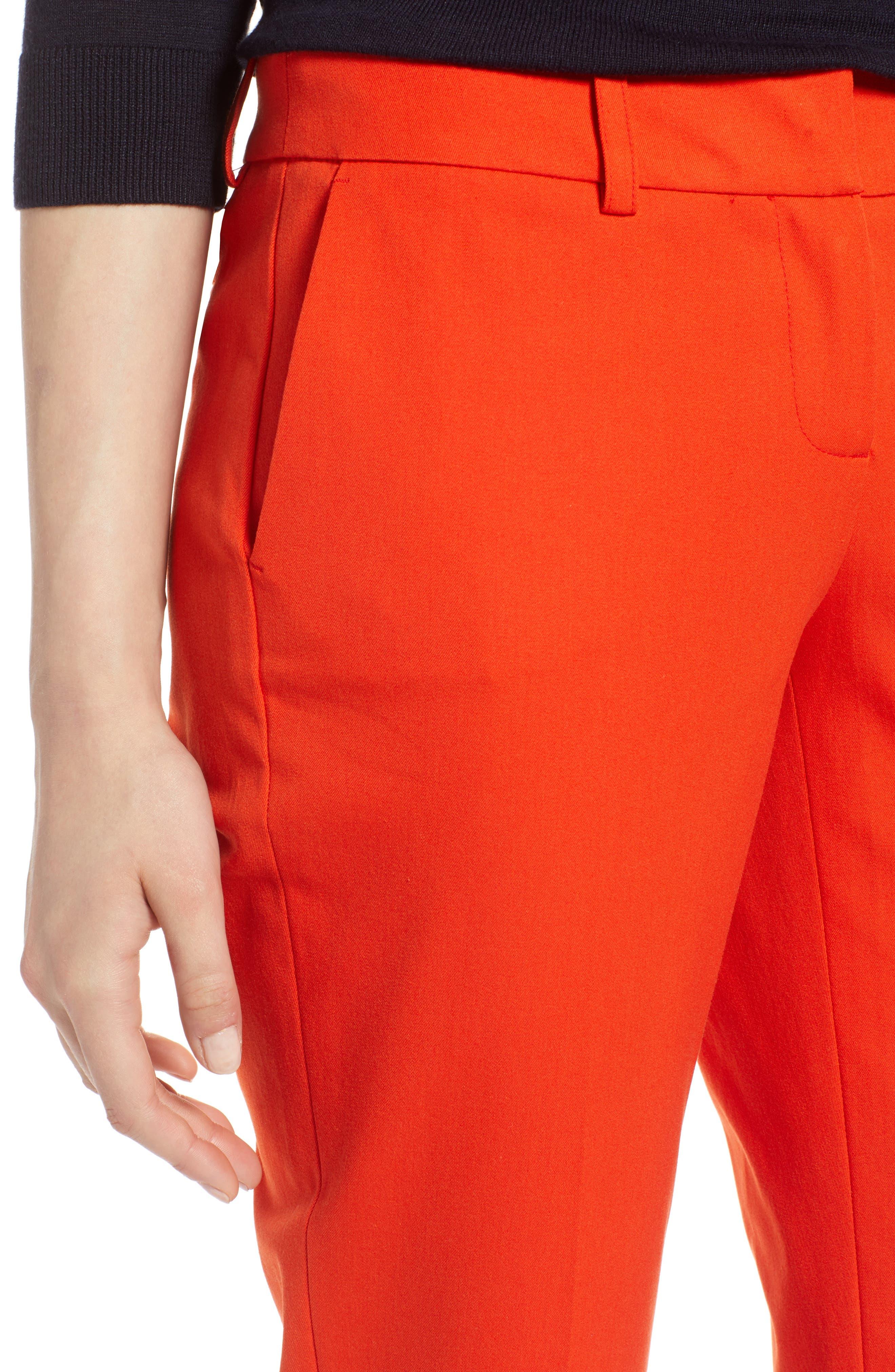 Crop Stretch Cotton Pants,                             Alternate thumbnail 69, color,
