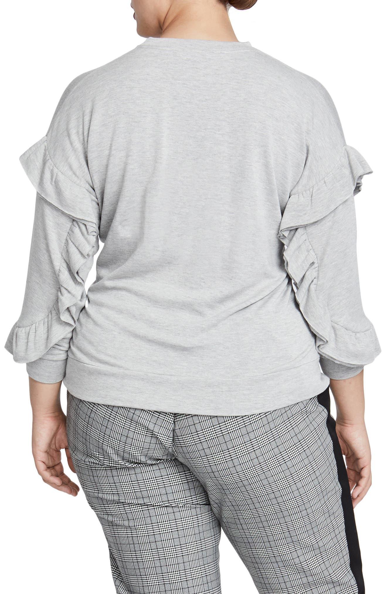 Miranda Ruffle Sweatshirt,                             Alternate thumbnail 2, color,                             060