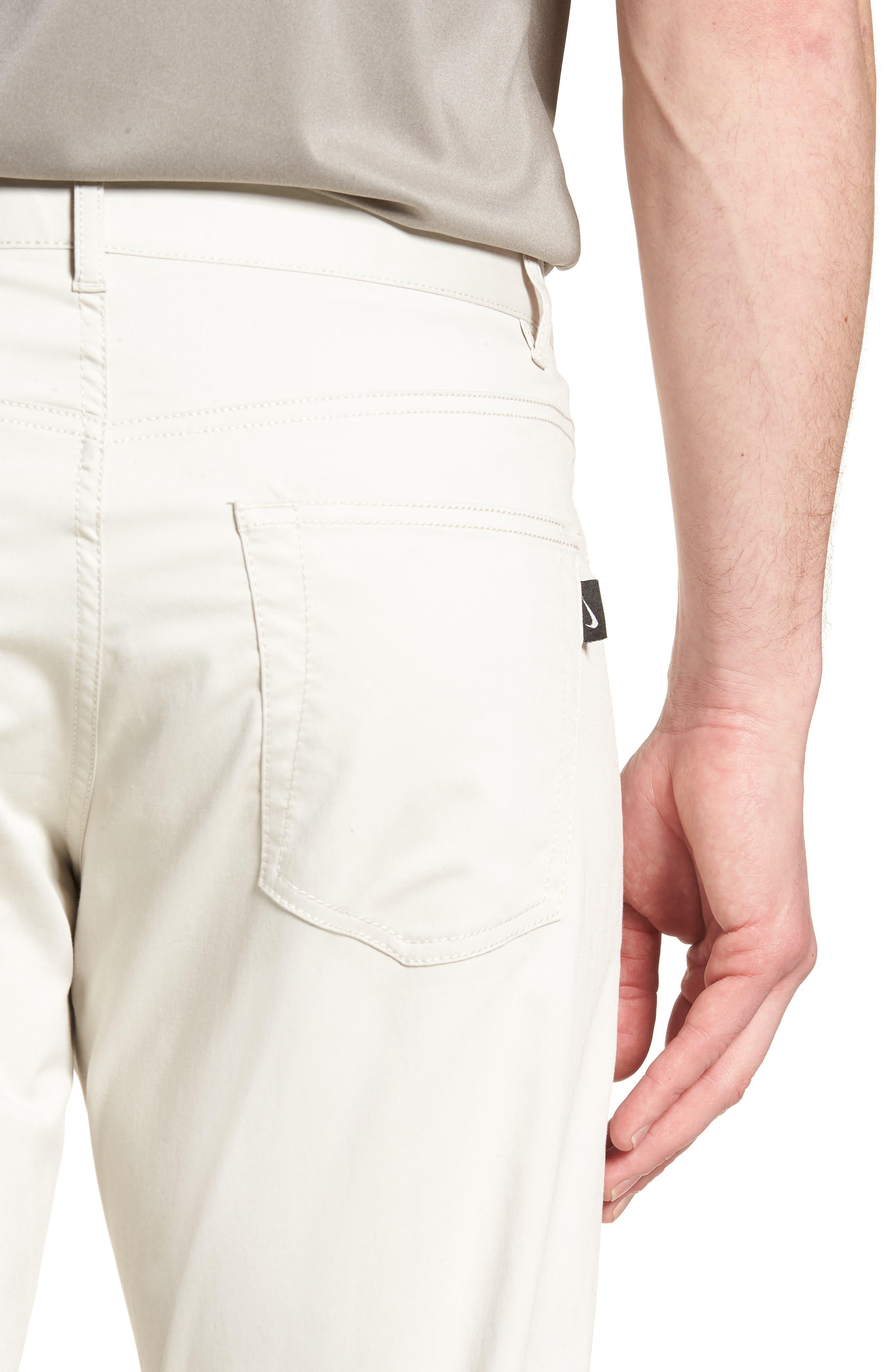 Dry Flex Slim Fit Golf Pants,                             Alternate thumbnail 4, color,                             LIGHT BONE/ WHITE