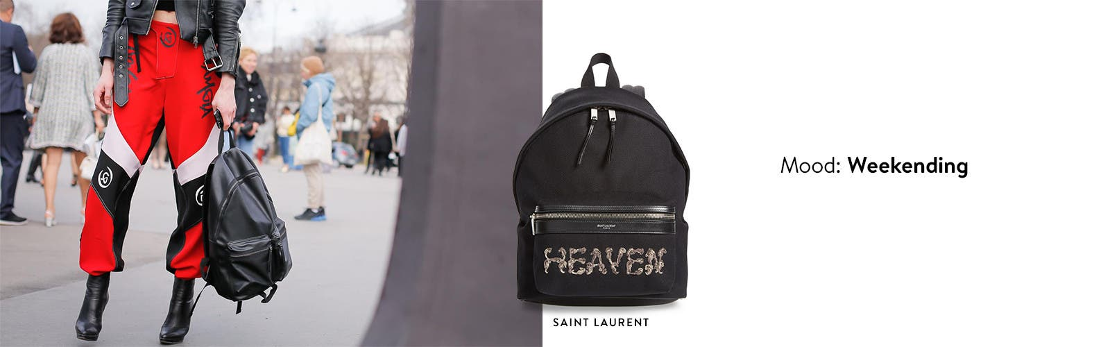 Weekending: designer backpacks from Saint Laurent and more.